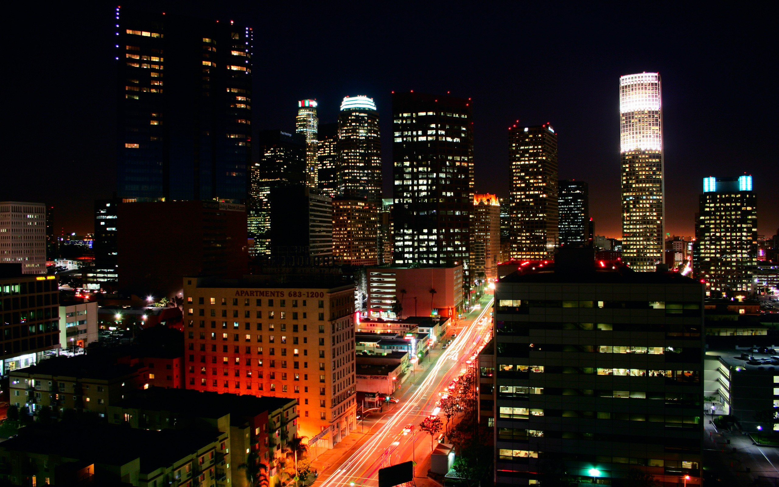 Los Angeles cityscapes HD Wallpaper