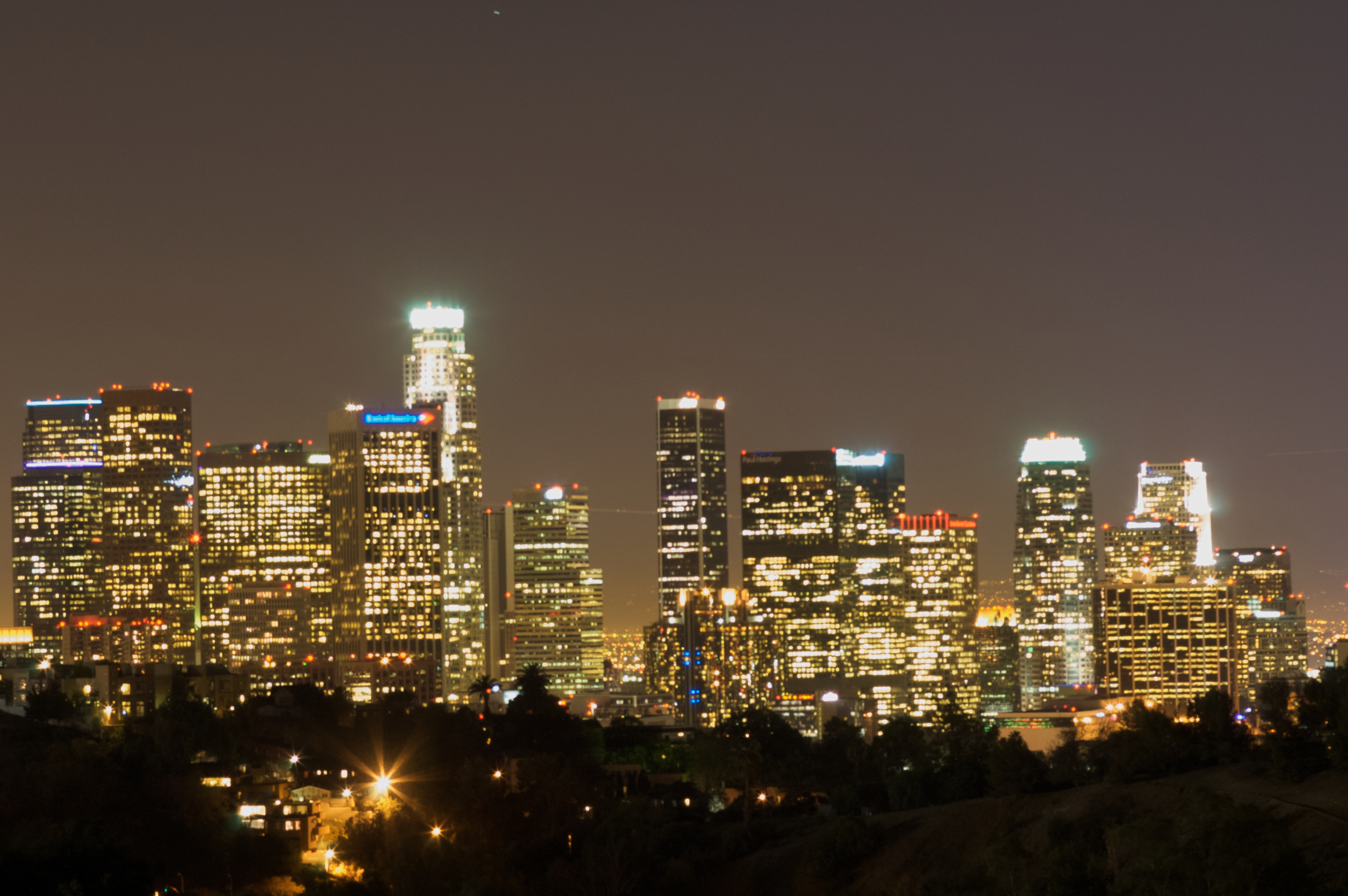 los Angeles skyline at