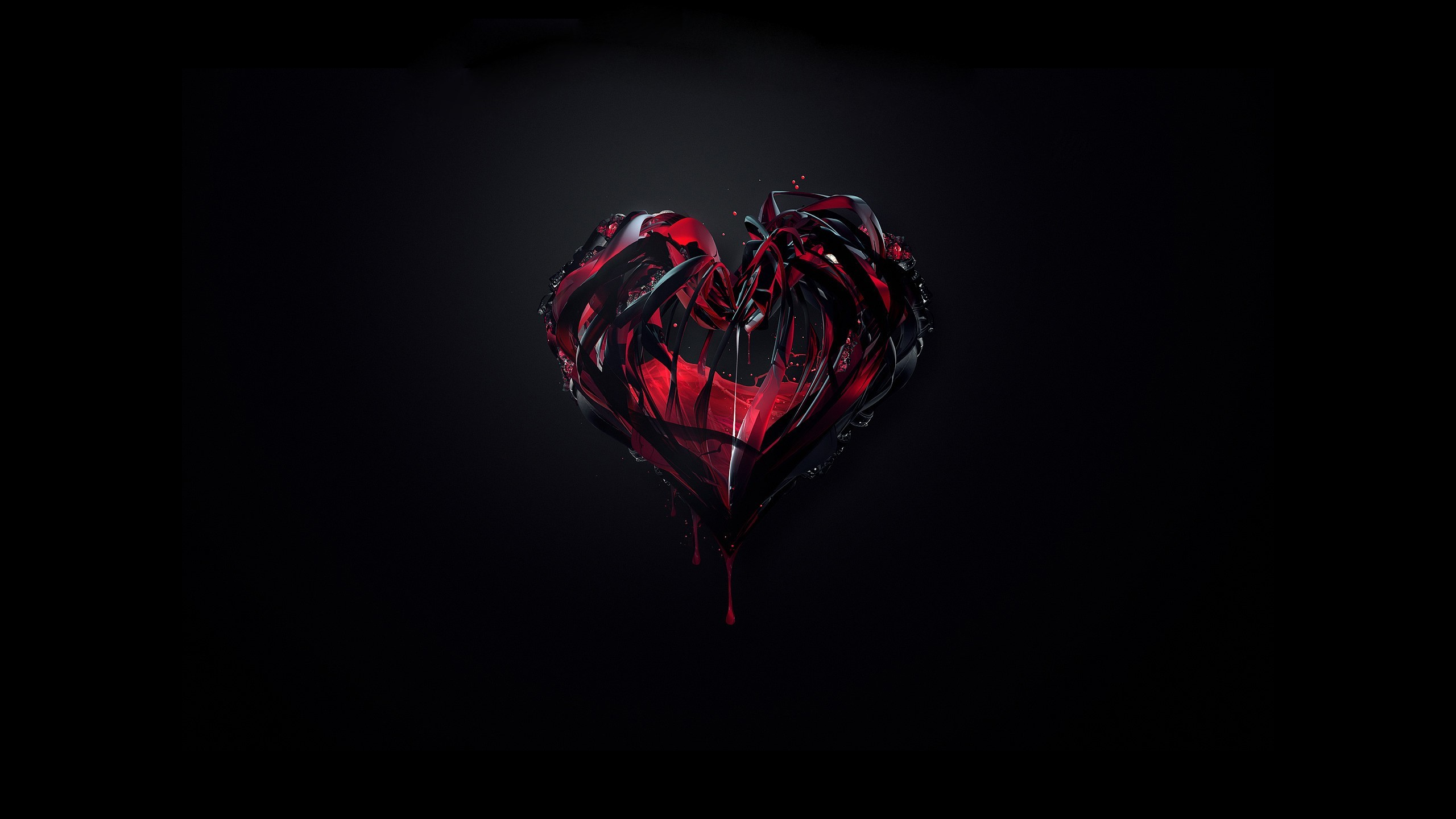 love black Hearts justin HD Wallpaper