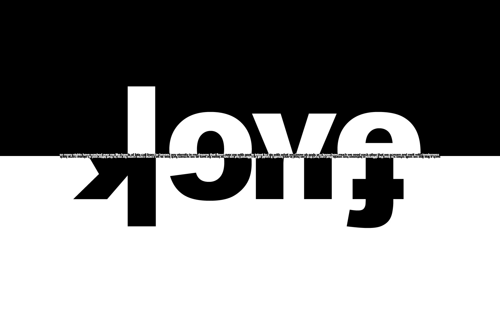 love Fuck text Typography