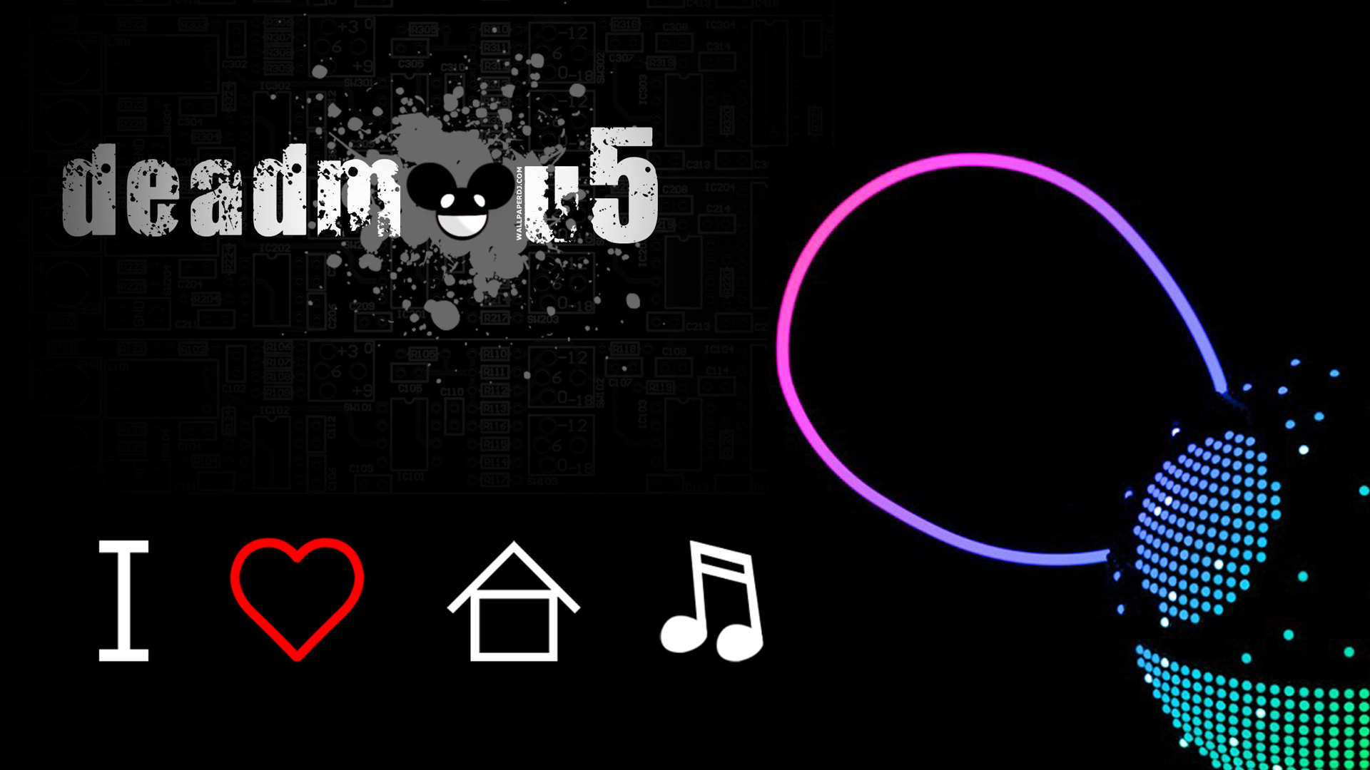 love Music dead deadmau5 HD Wallpaper
