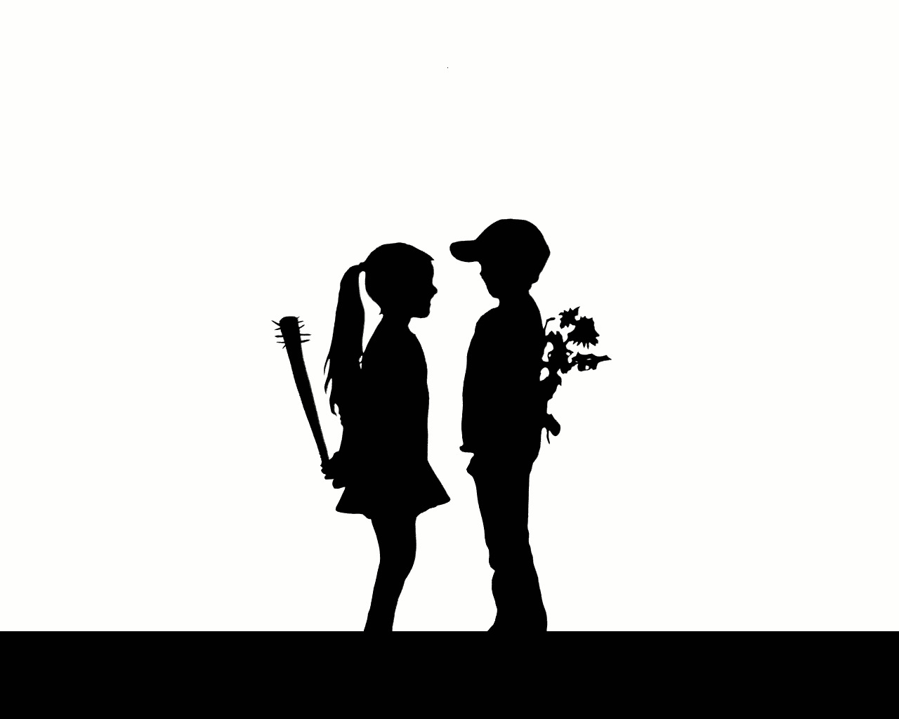 love silhouette hate HD Wallpaper