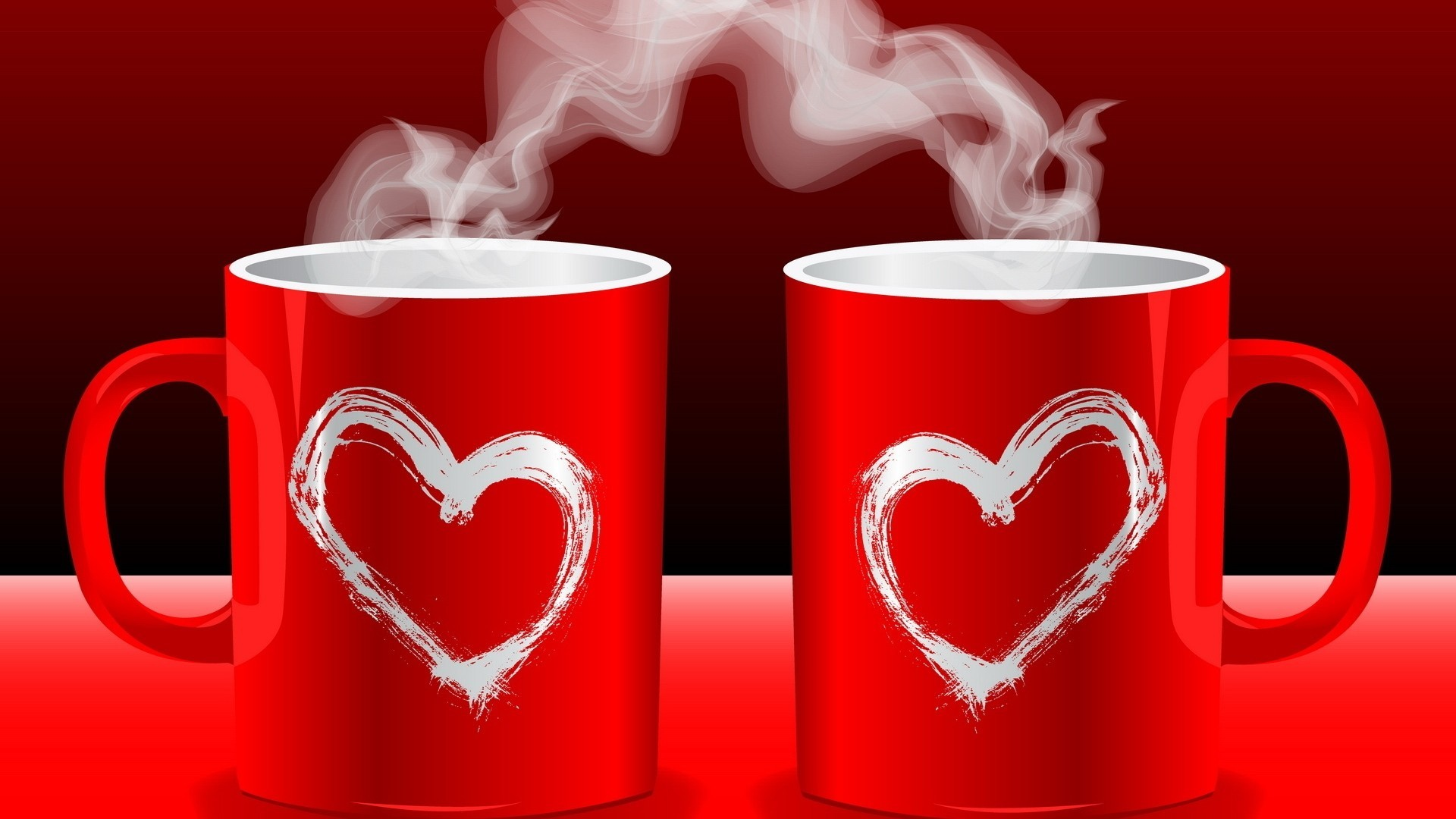 love smoke cups Hearts HD Wallpaper