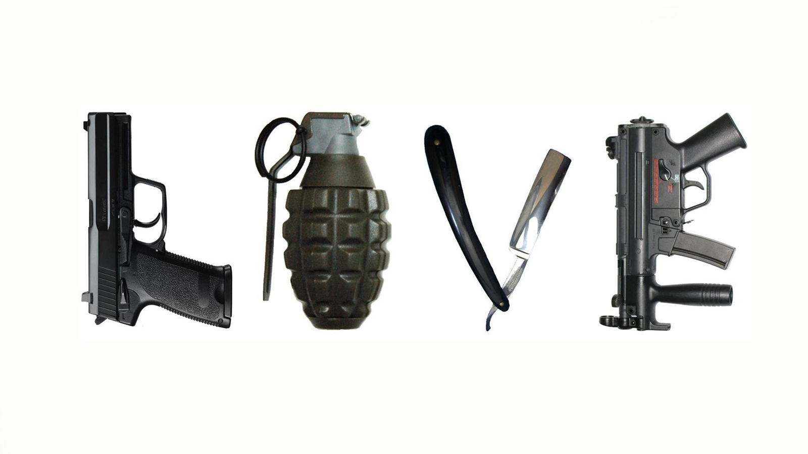 love weapons mp5 Grenades HD Wallpaper