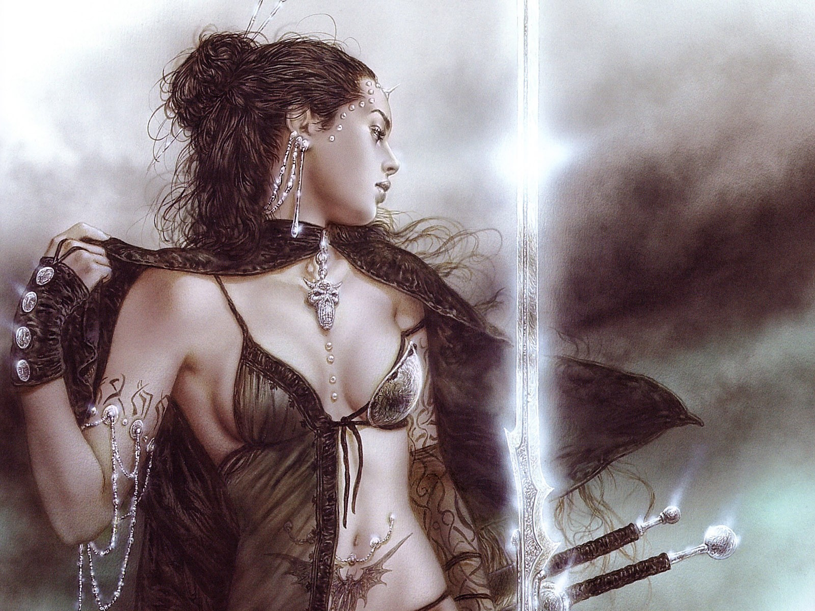 luis royo artwork HD Wallpaper
