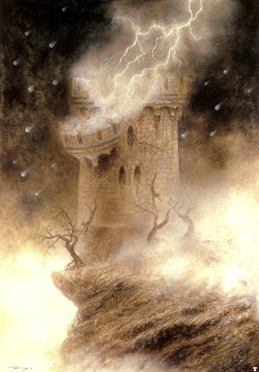 luis royo The tower HD Wallpaper