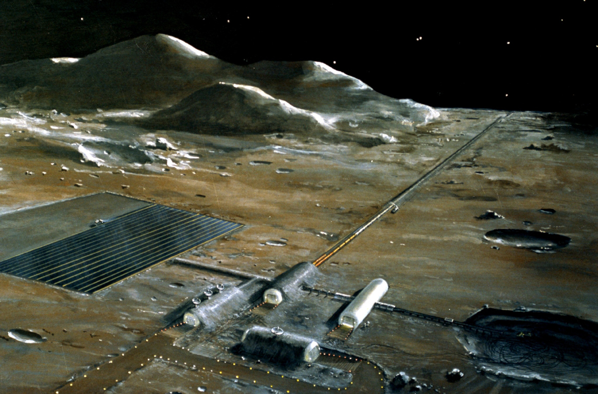 lunar base Concept drawing
