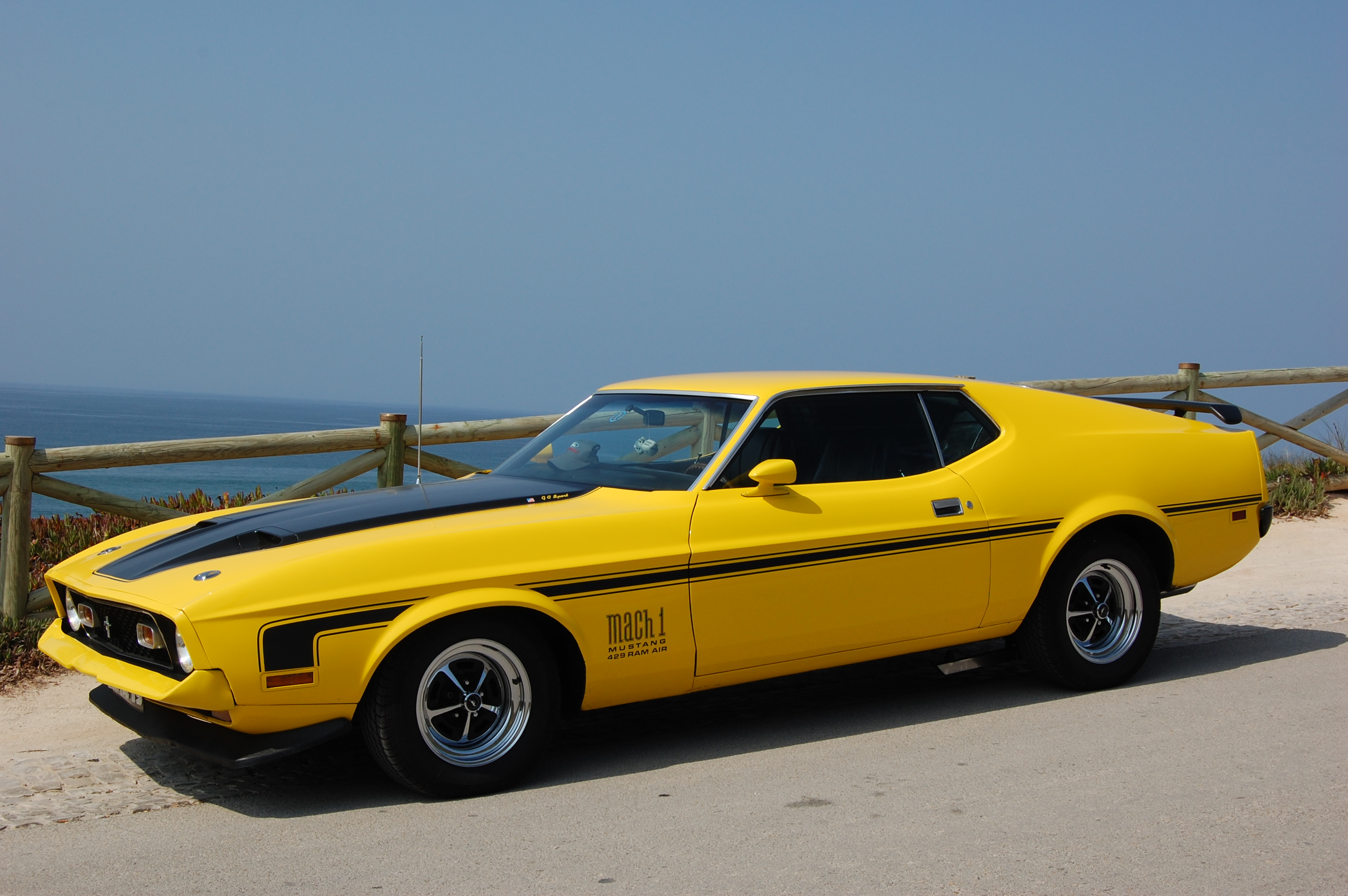 mach 1 yellow cars HD Wallpaper