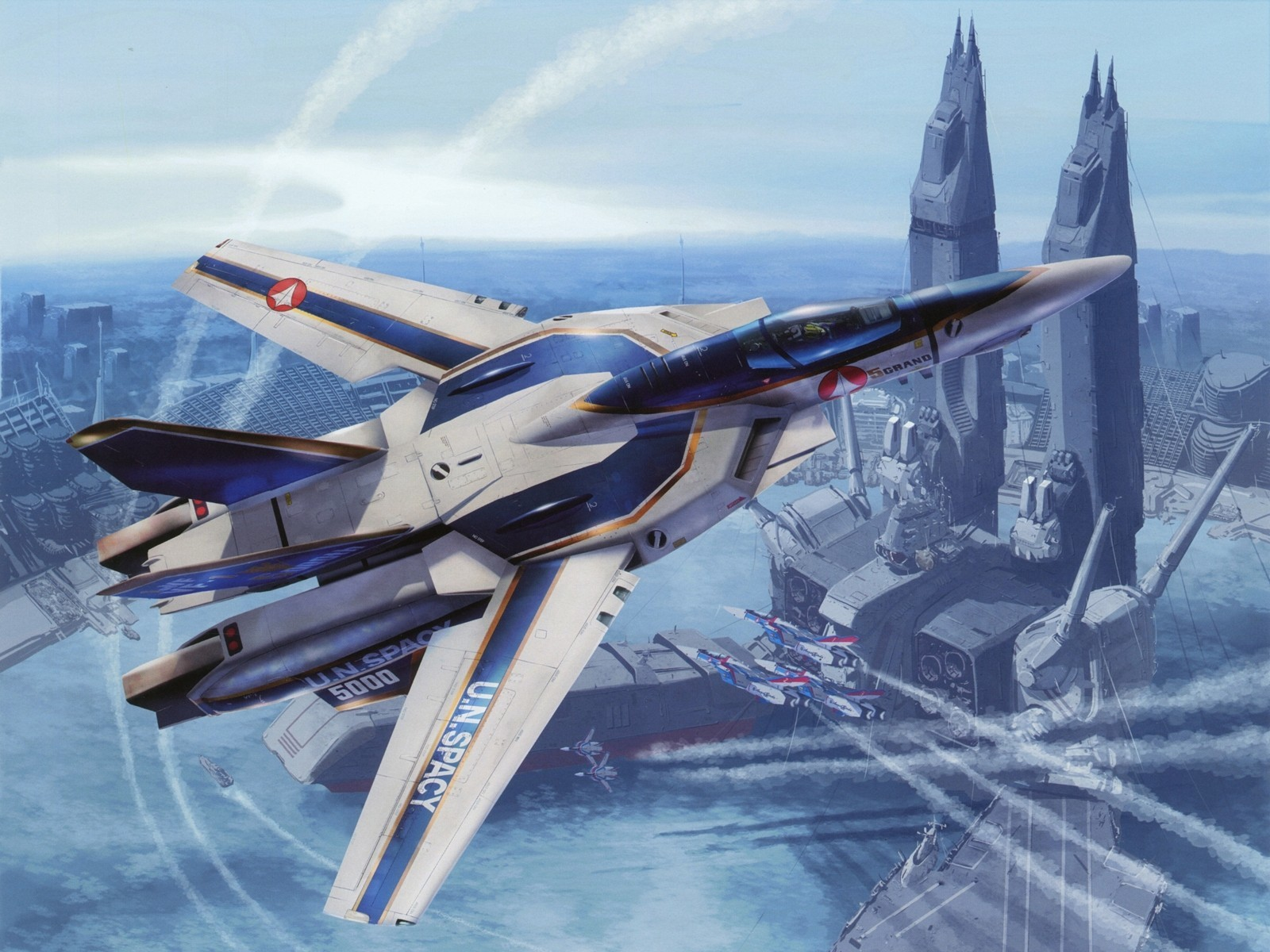 macross mecha planes HD Wallpaper