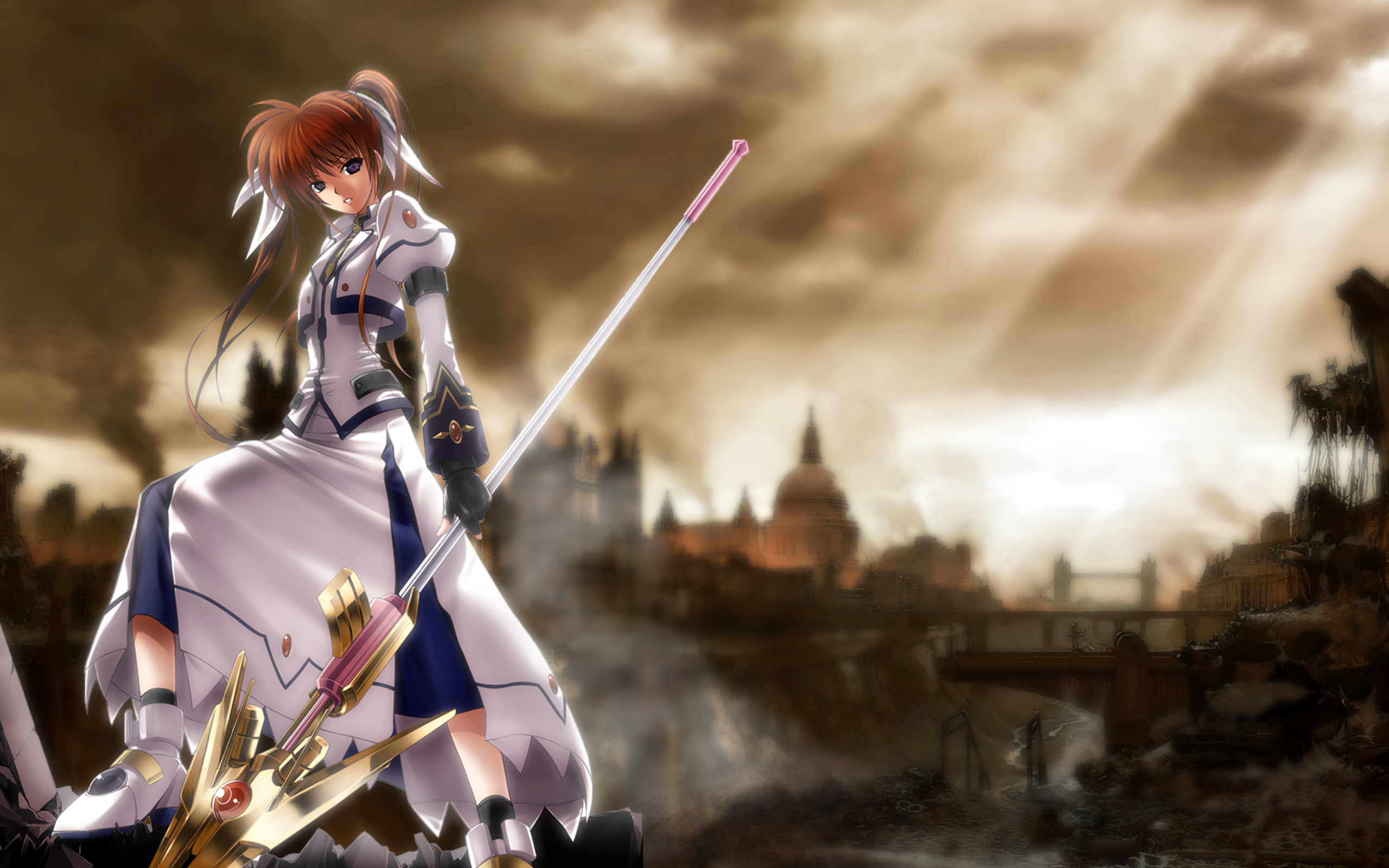 magical girl lyrical Nanoha HD Wallpaper