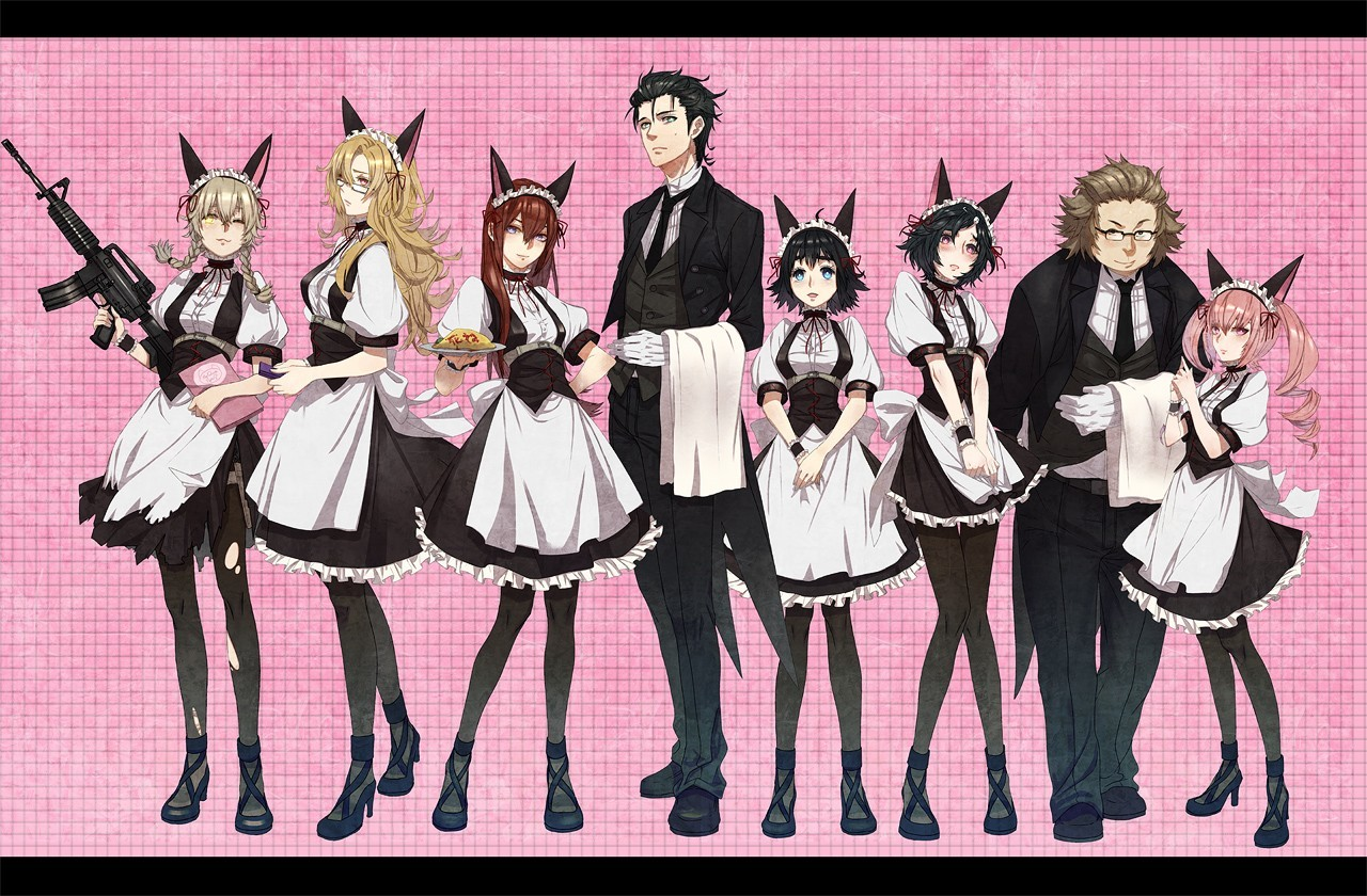 maids anime boys steins HD Wallpaper