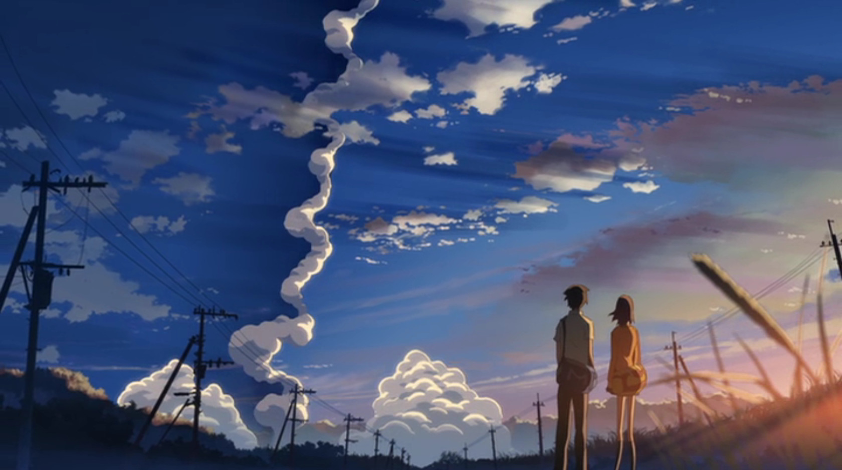 makoto shinkai centimeters per HD Wallpaper