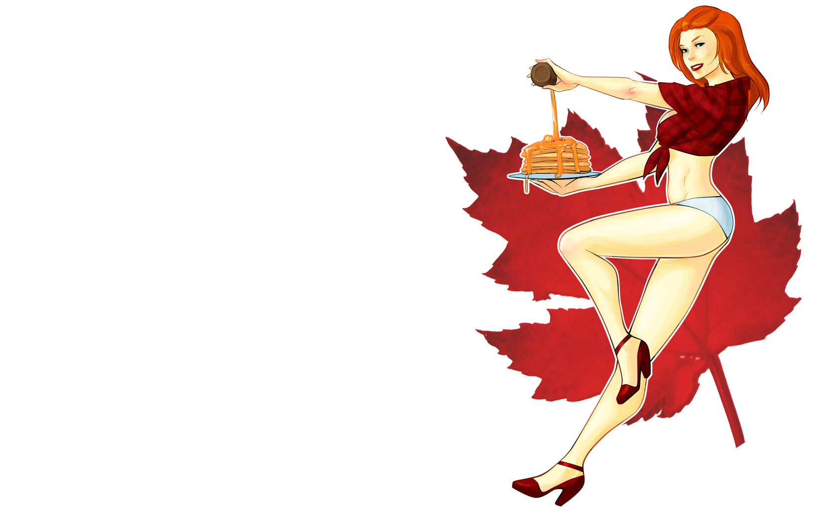 maple syrup plaid Canadian HD Wallpaper