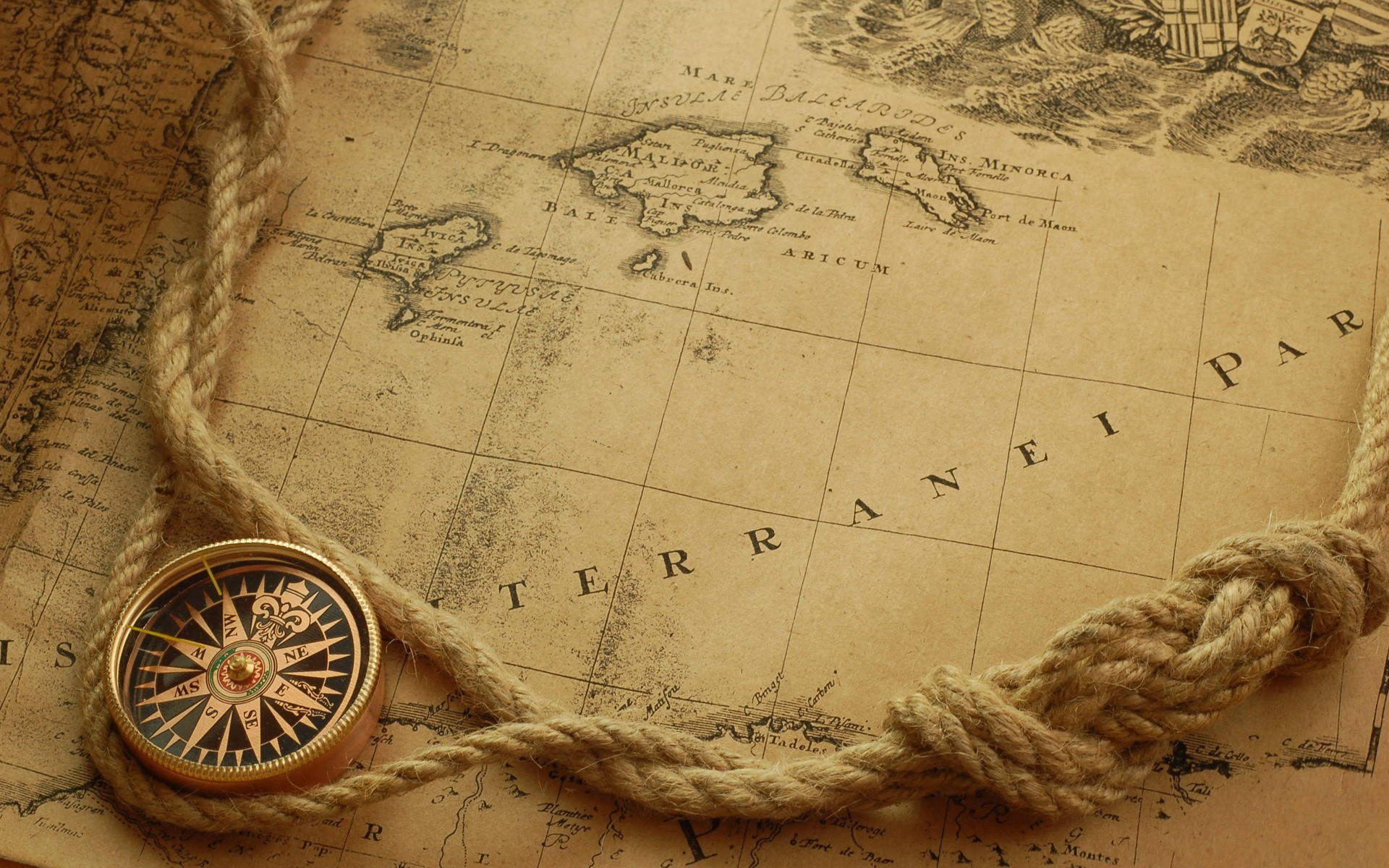 Maps compasses world map HD Wallpaper