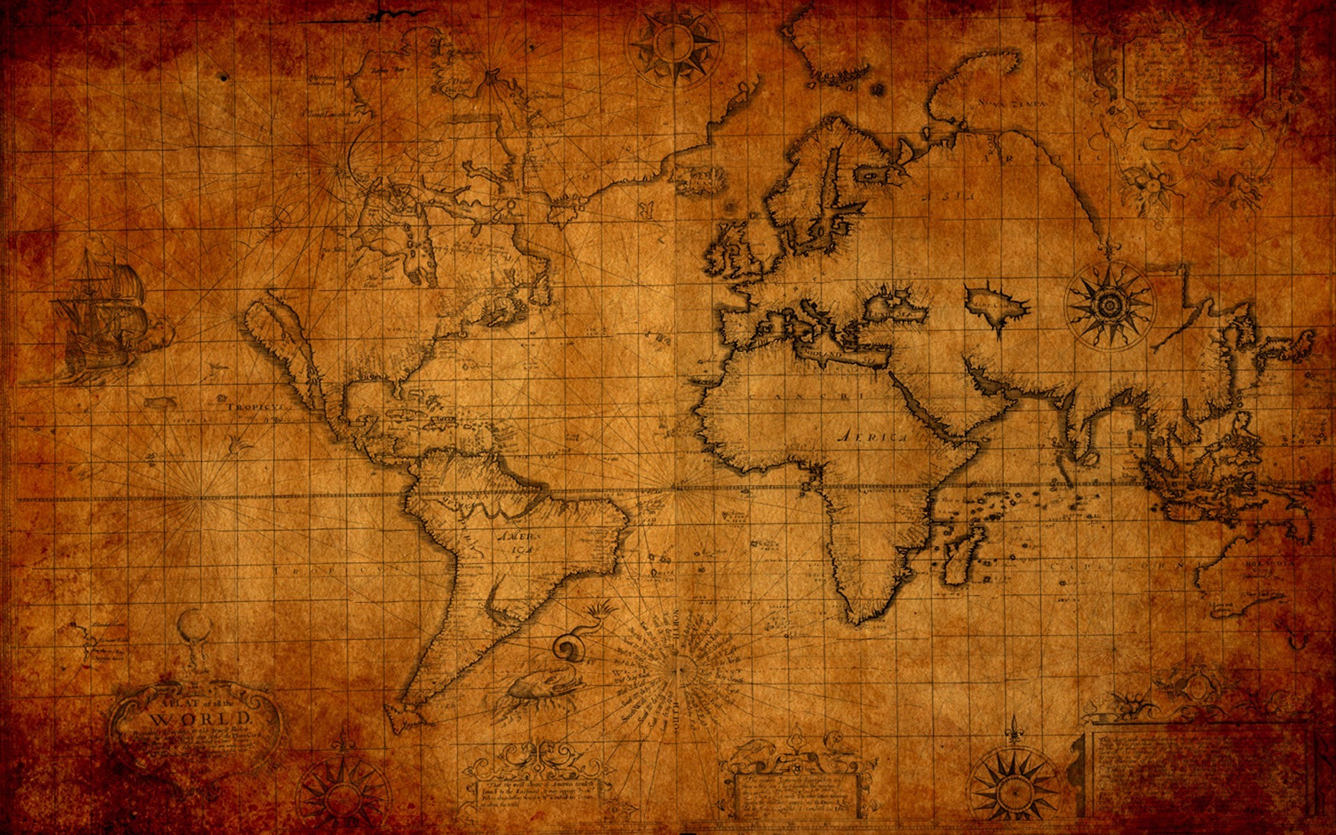 Maps world map HD Wallpaper