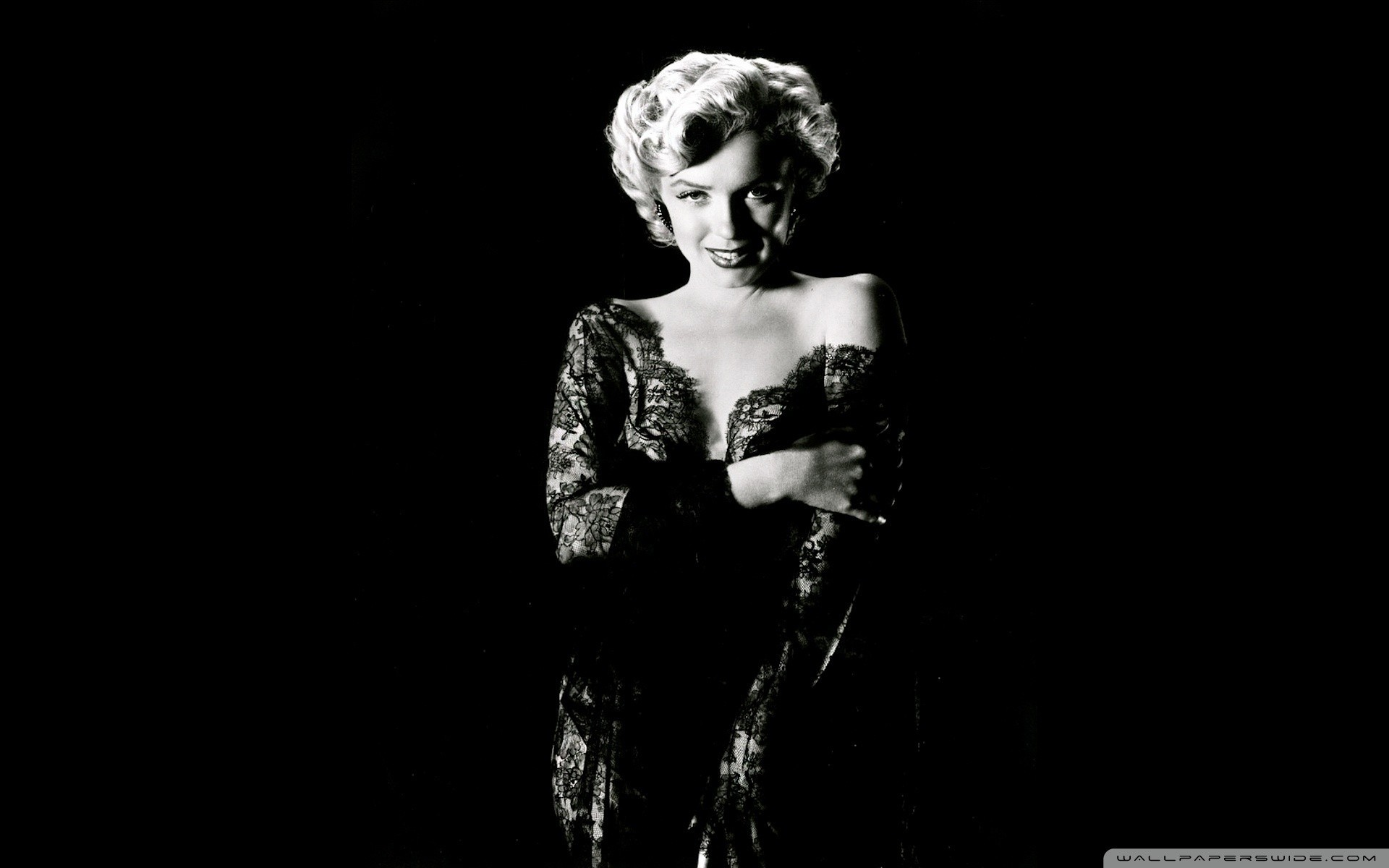 Marilyn Monroe monochrome black HD Wallpaper