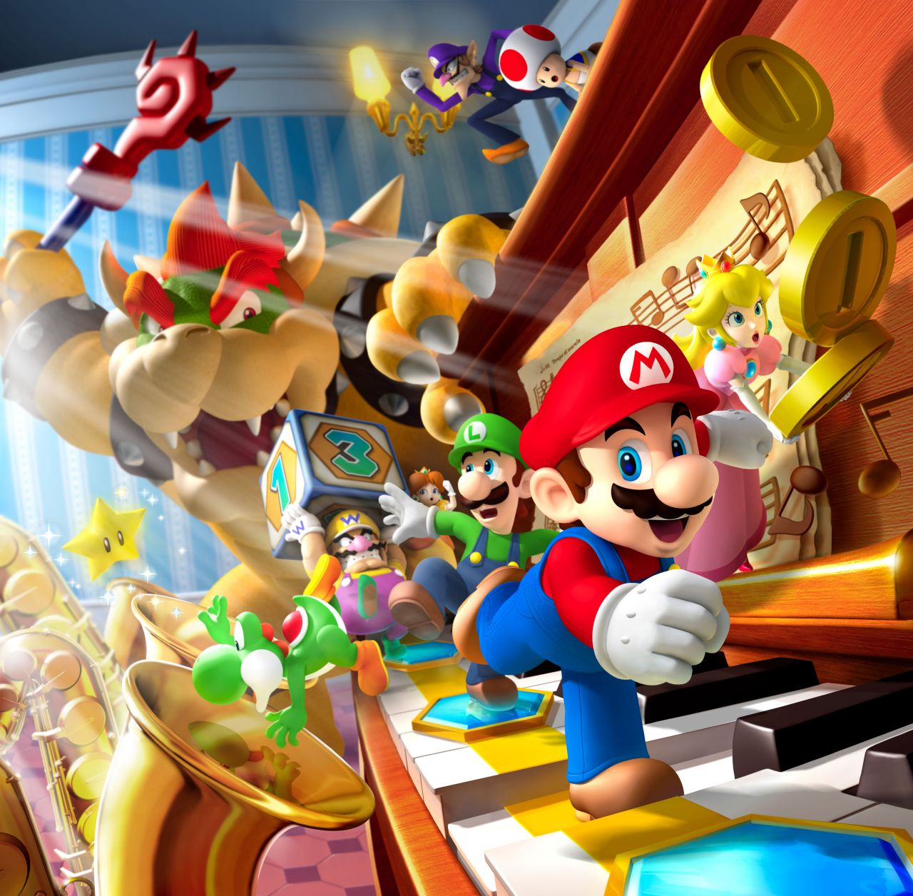 Mario amp Friends on HD Wallpaper