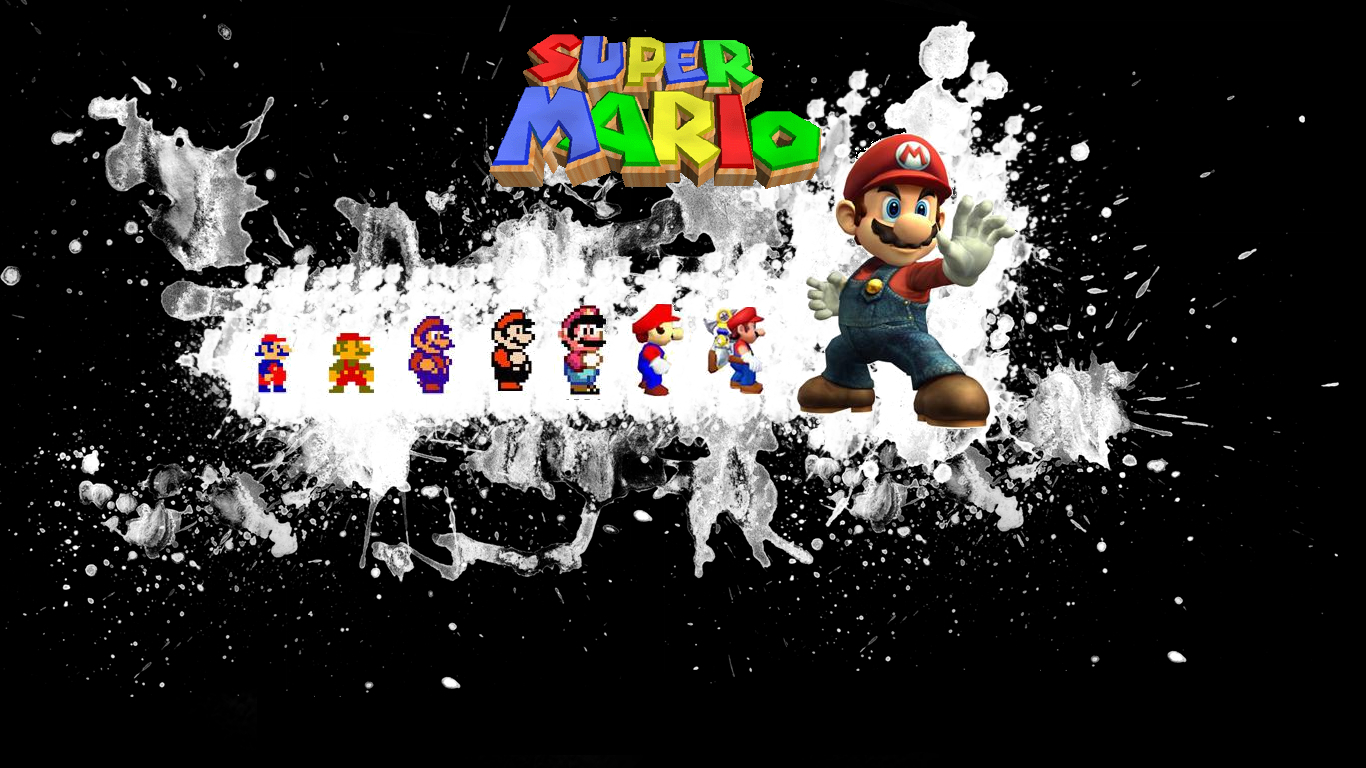Mario Evolution game HD Wallpaper