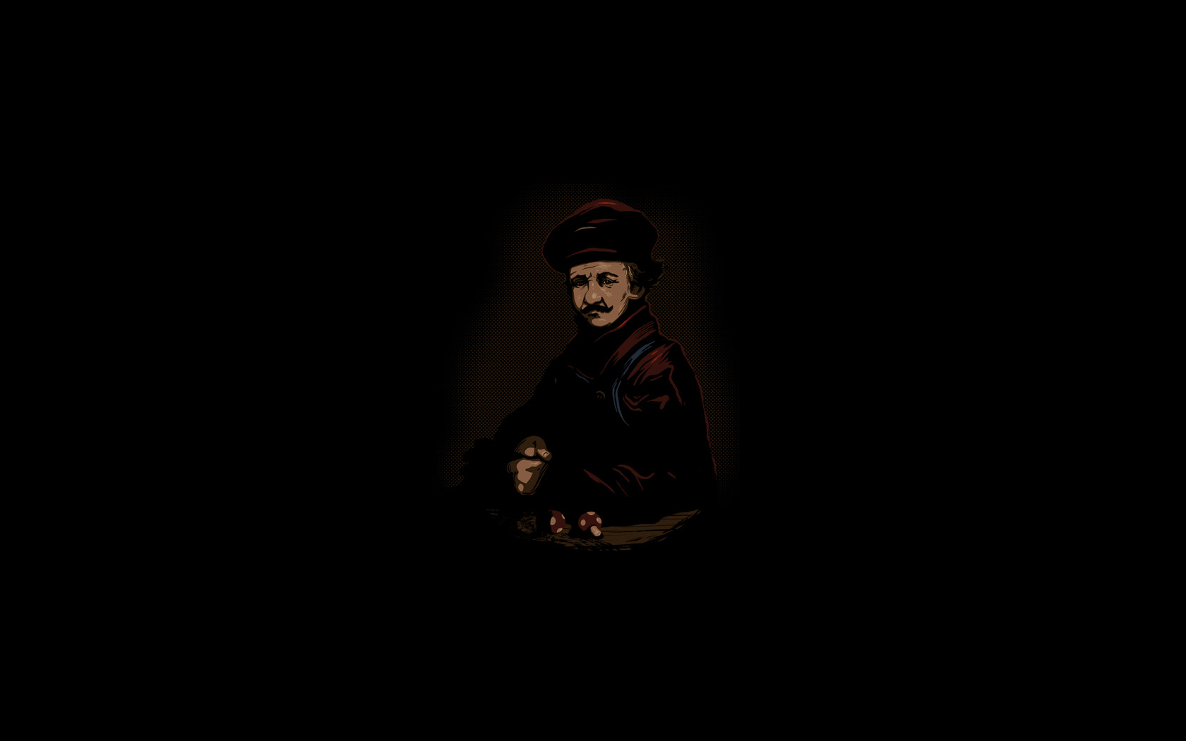 Mario rembrandt game HD Wallpaper