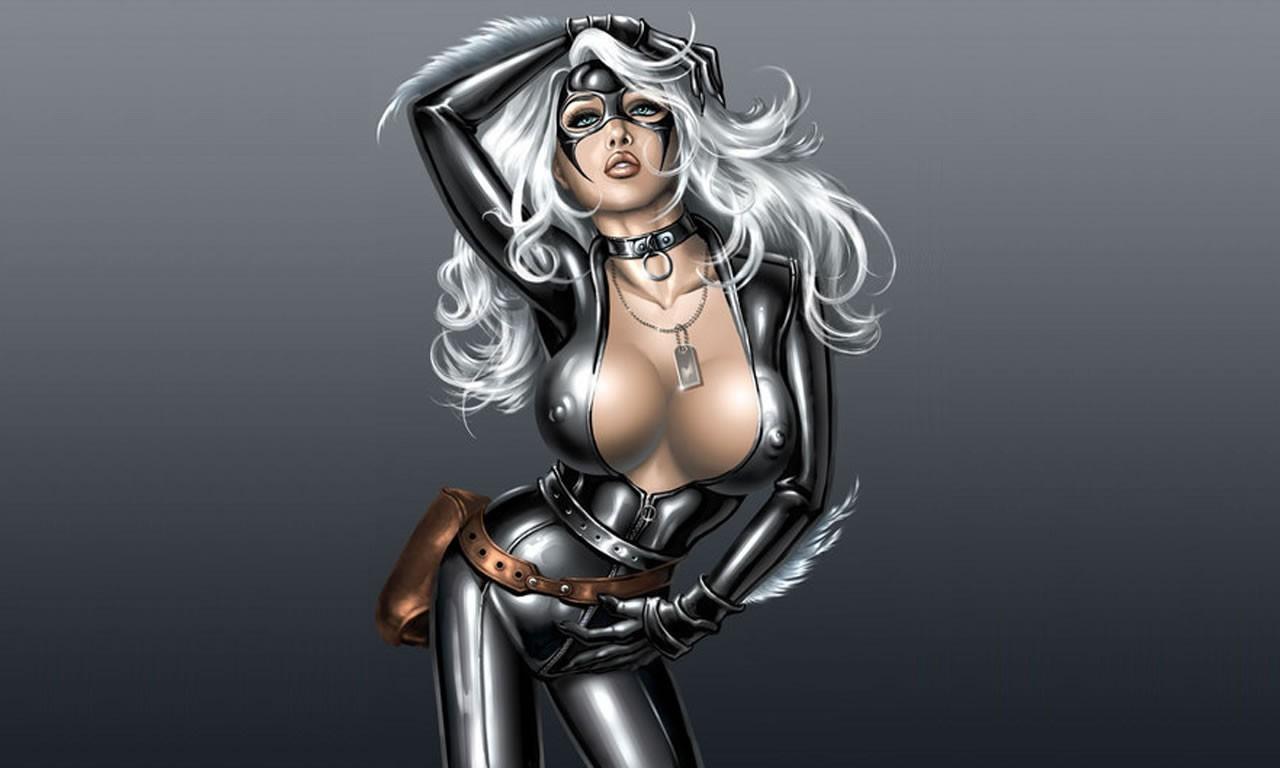 Black Wallpaper on Marvel Comics Black Cat Hd Wallpaper   Cartoon   Animation   927025