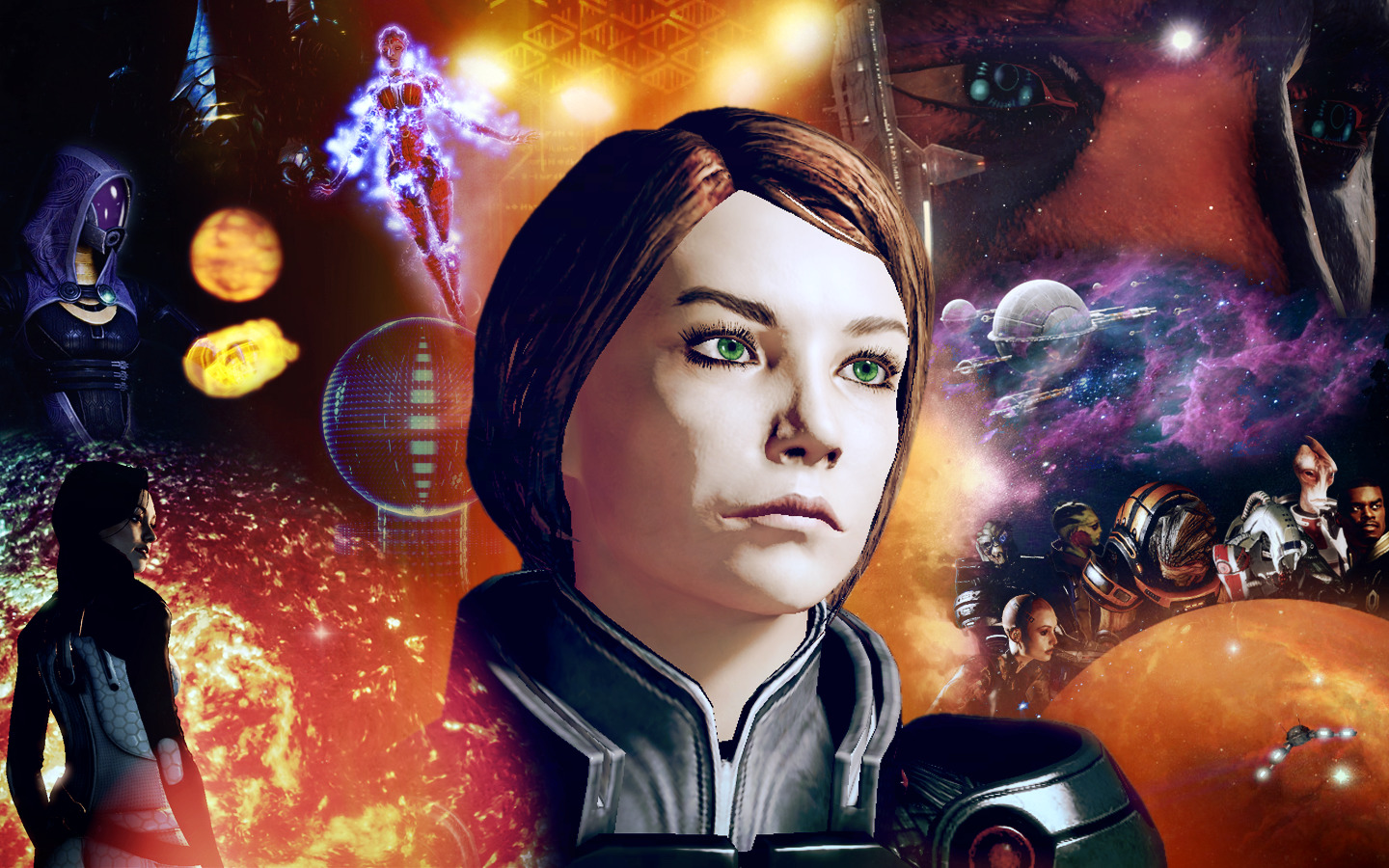 mass effect FemShep Commander HD Wallpaper