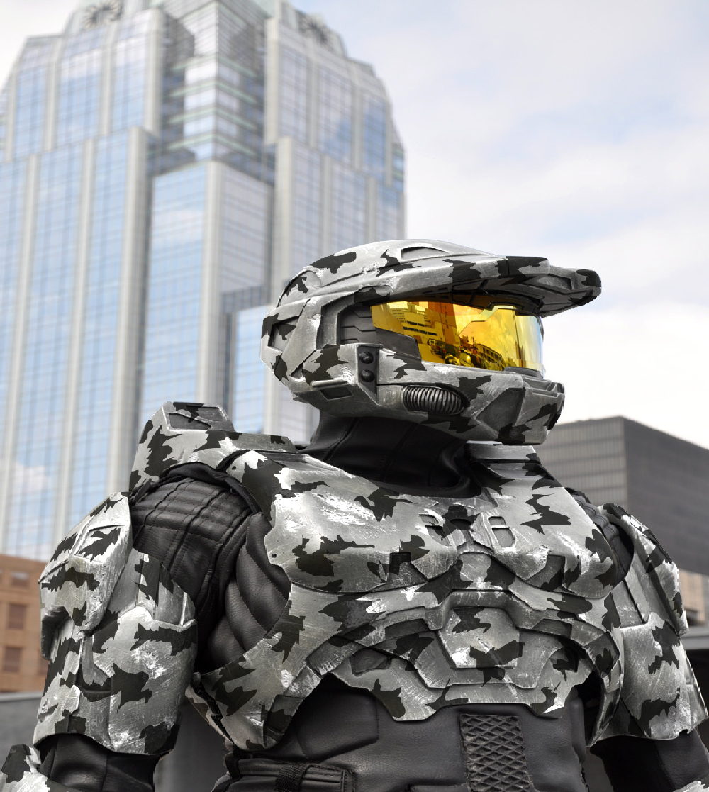 master Chief snow camo HD Wallpaper