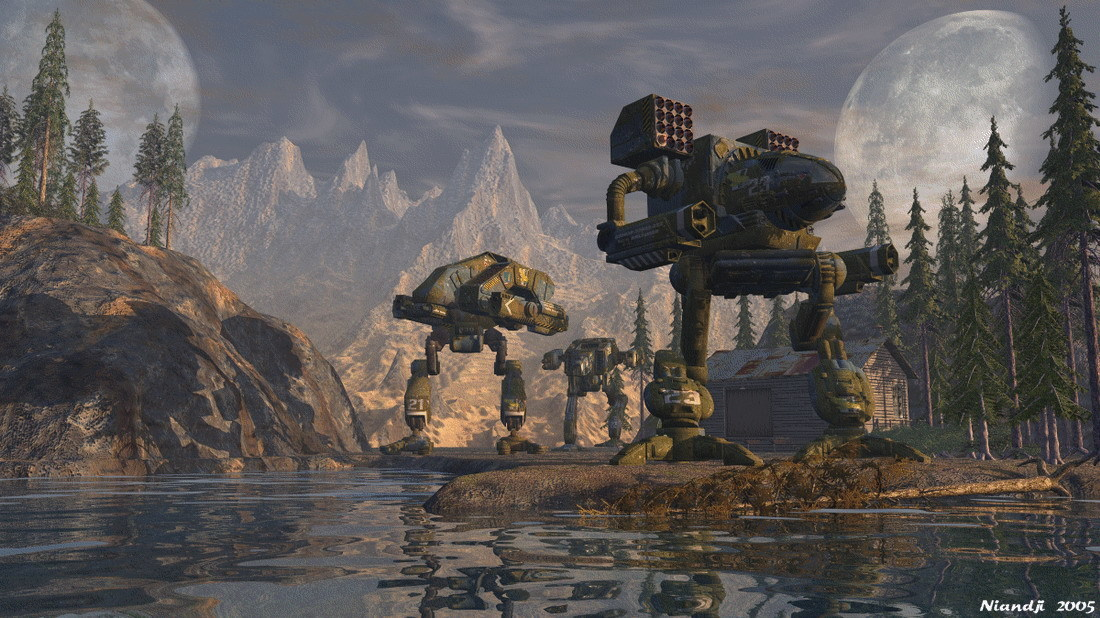 mecha MechWarrior Mad Dog HD Wallpaper