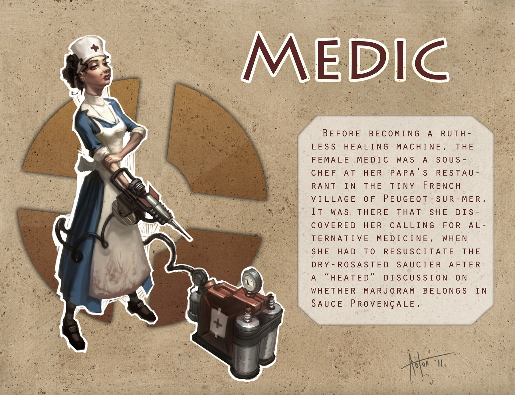 Medic TF2 rule 63 HD Wallpaper