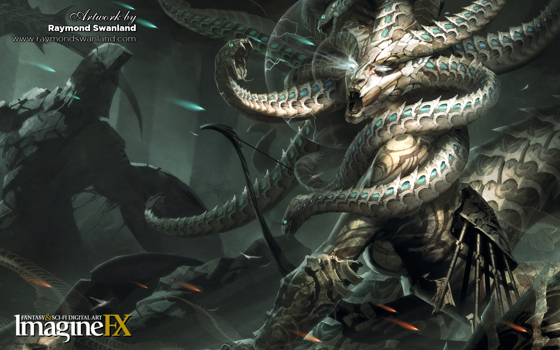 medusa snakes fantasy art HD Wallpaper