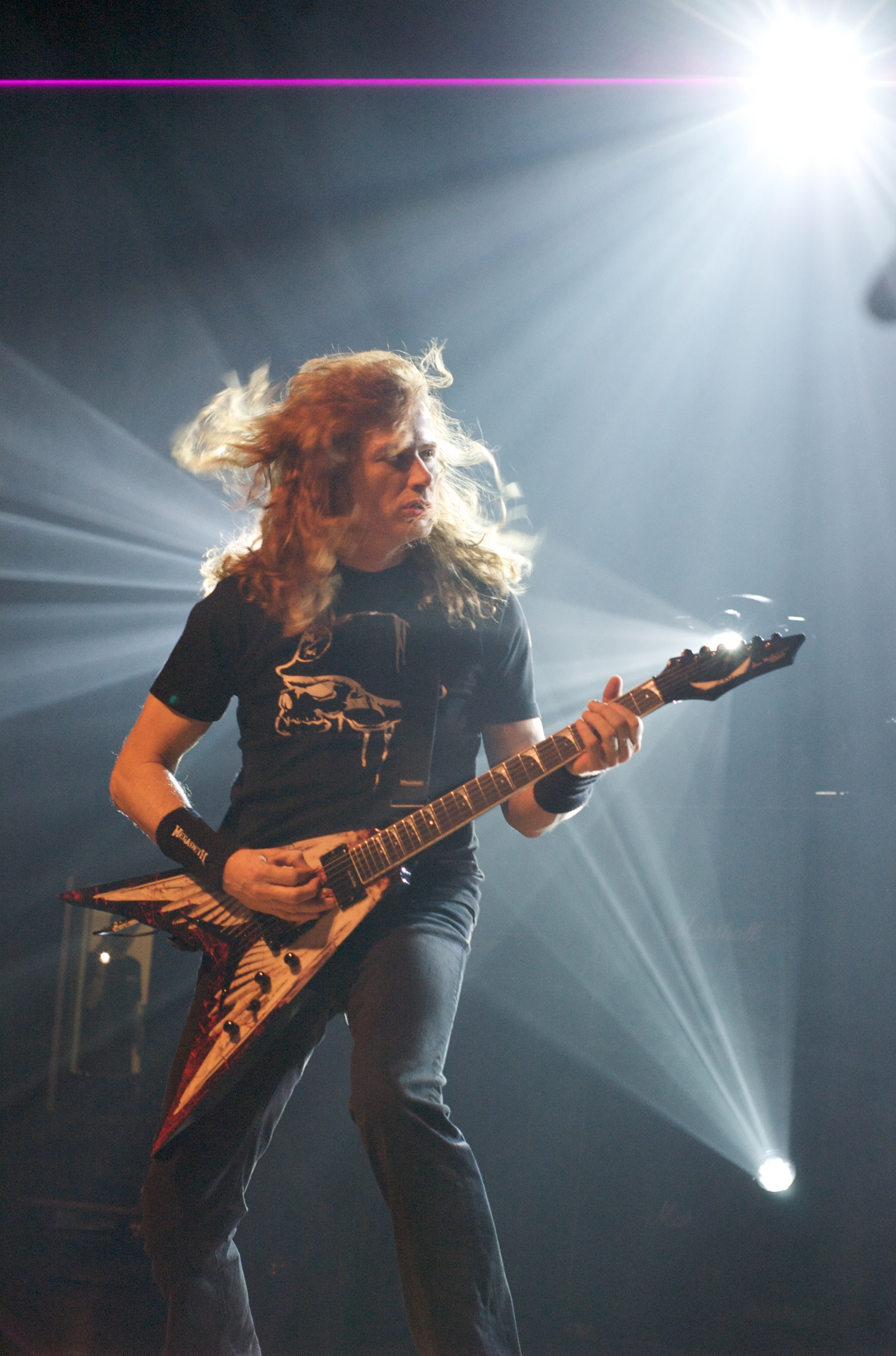 megadeth Dave Mustaine electric HD Wallpaper