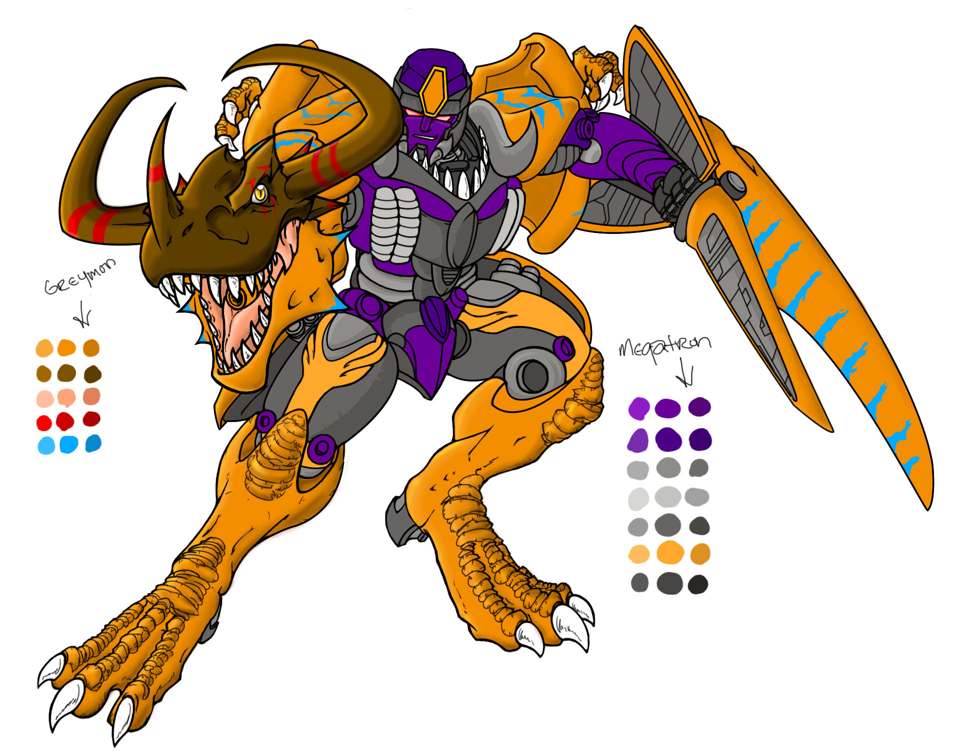 Megatron greymon WTF by HD Wallpaper