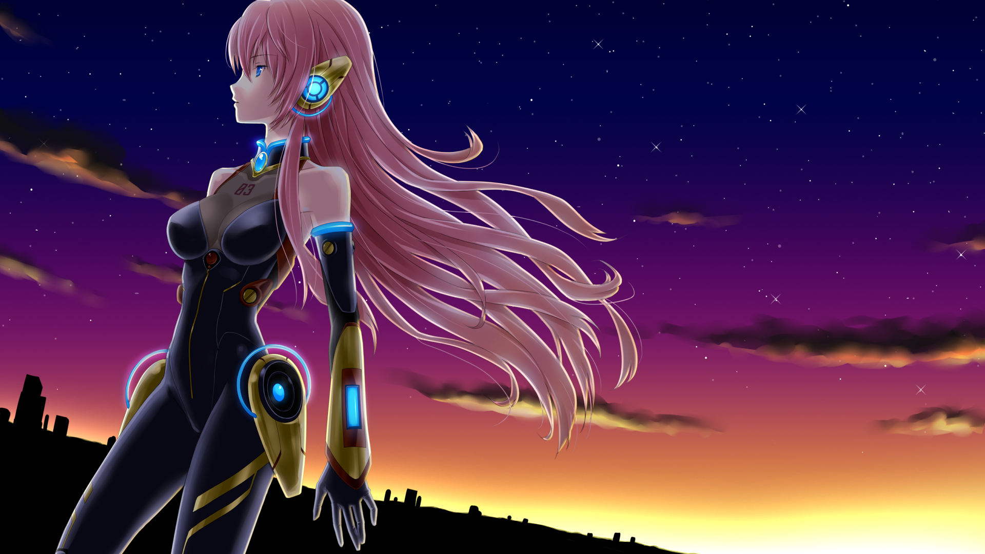 megurine luka vocaloid blue HD Wallpaper