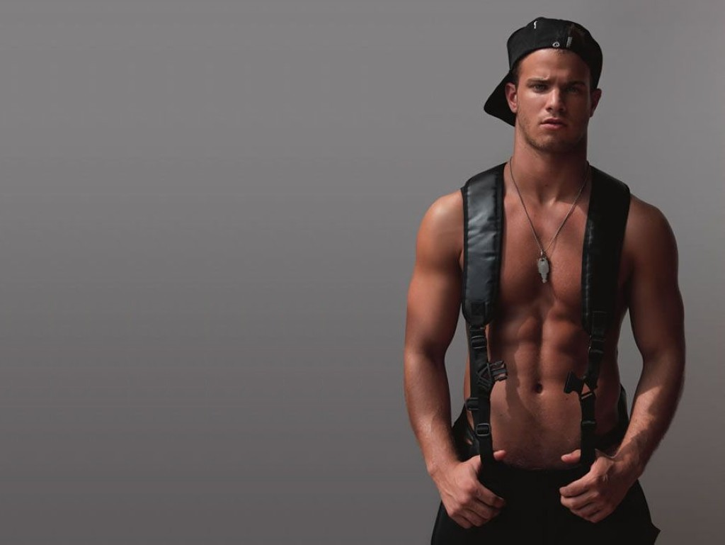 Men suspenders male models HD Wallpaper