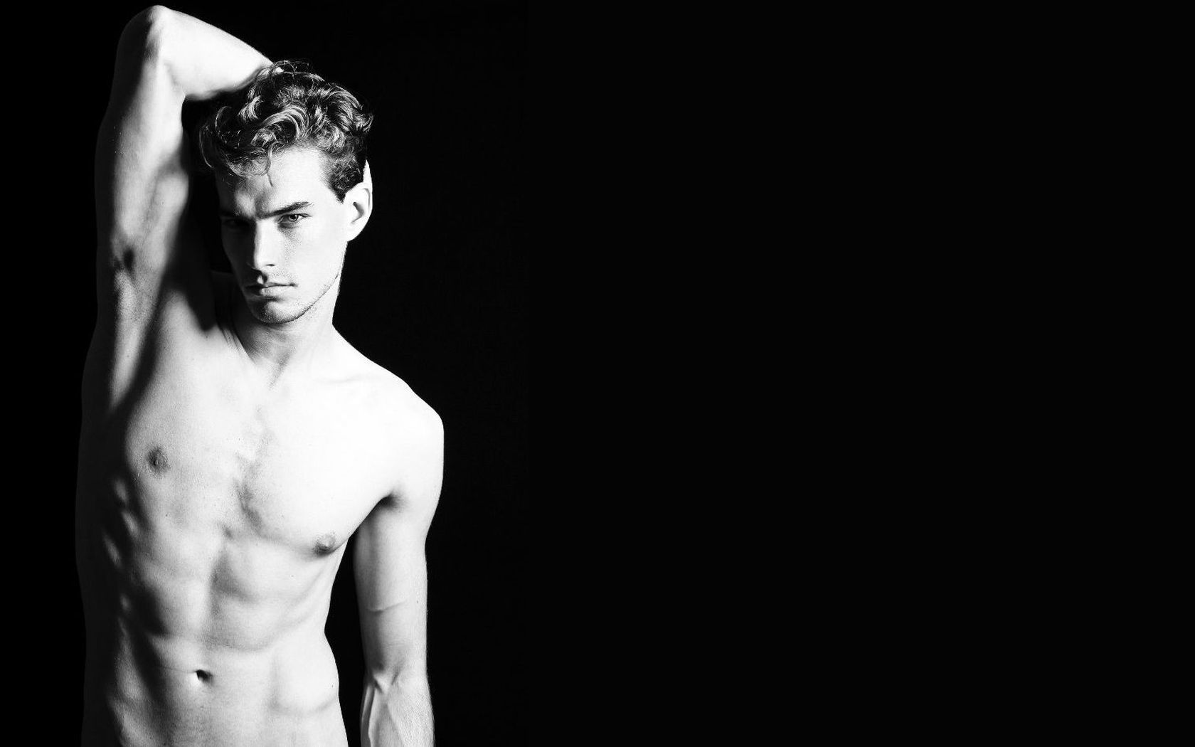 Men topless grayscale black HD Wallpaper