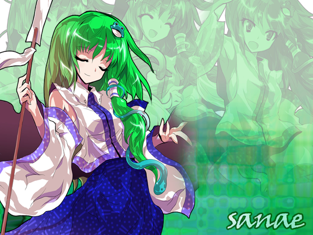 miko kochiya sanae detached HD Wallpaper