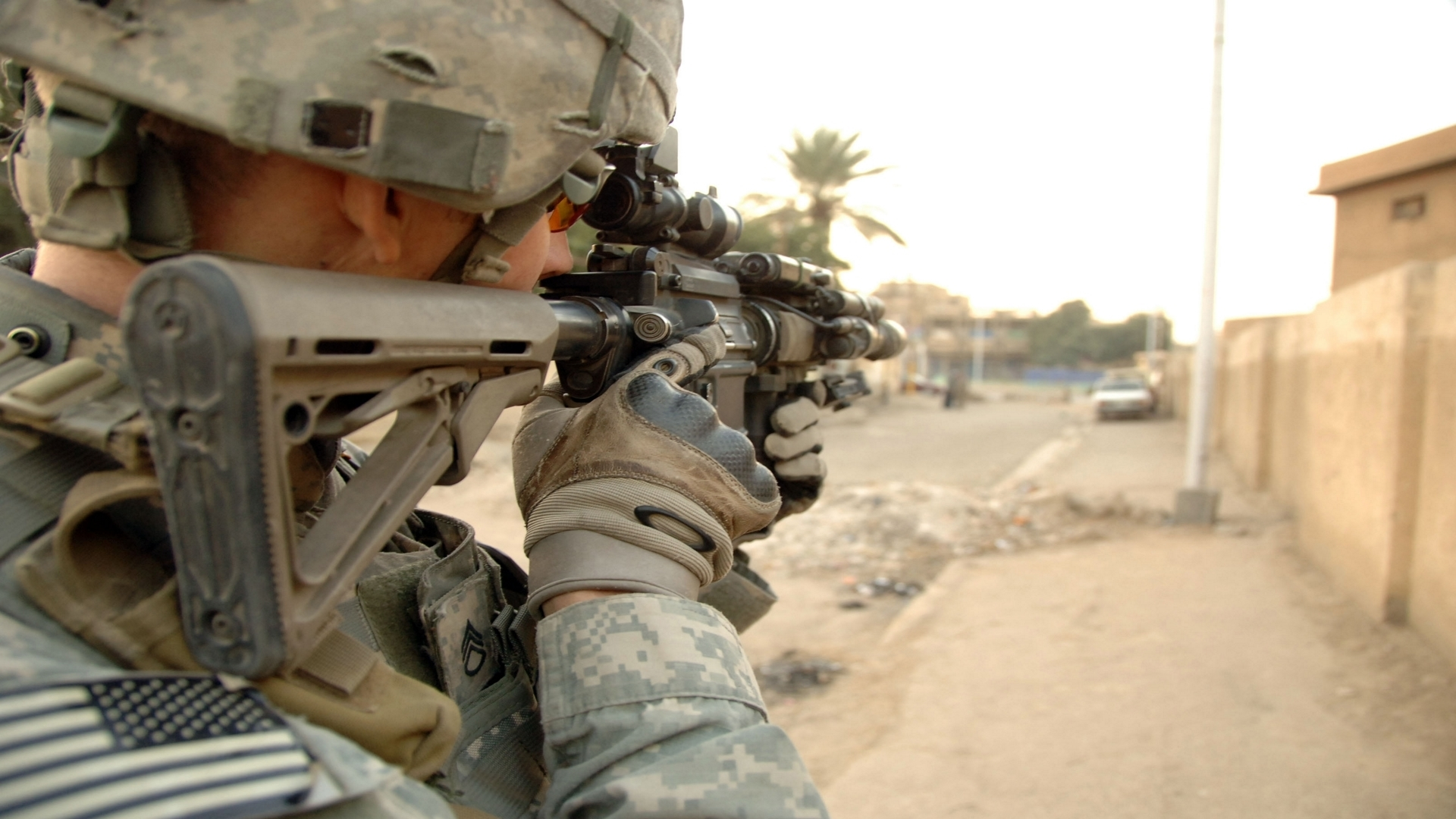 military combat infantry US HD Wallpaper