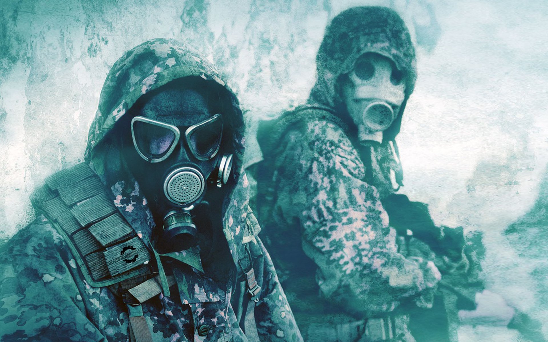 military gas masks camouflage HD Wallpaper