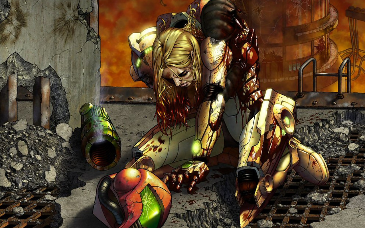 military metroid blood samus HD Wallpaper