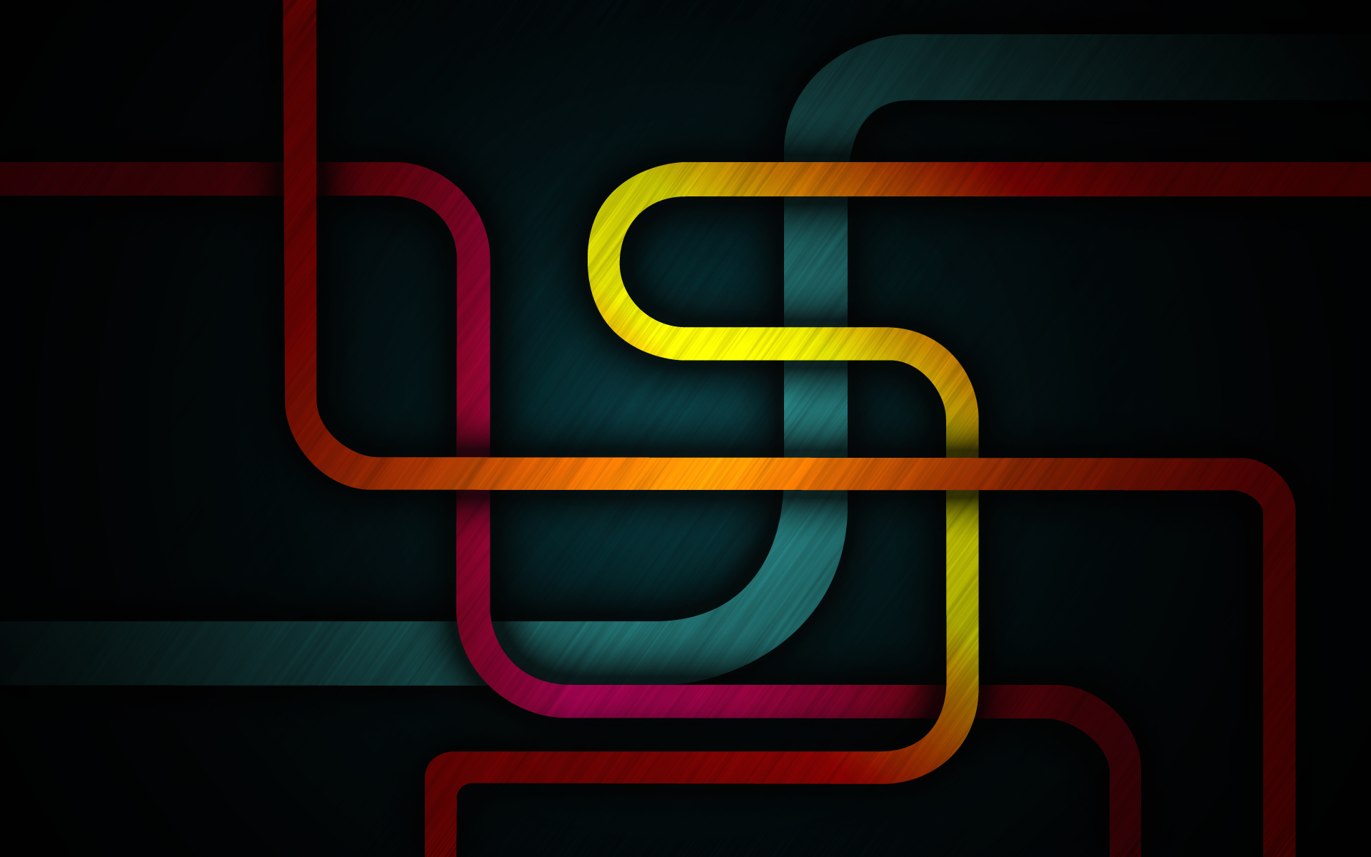 minimalistic colored subway Map HD Wallpaper