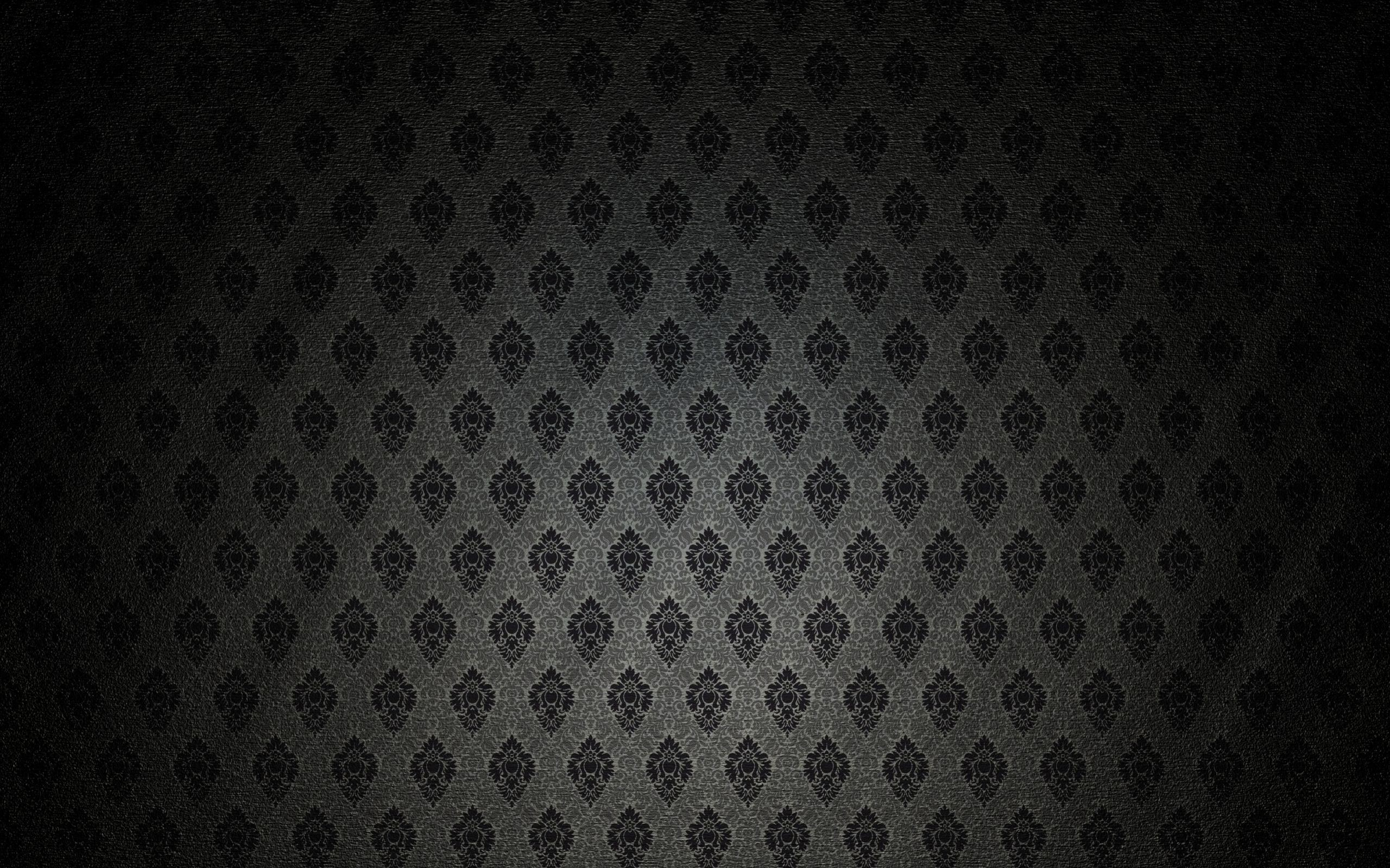 minimalistic dark patterns damask HD Wallpaper