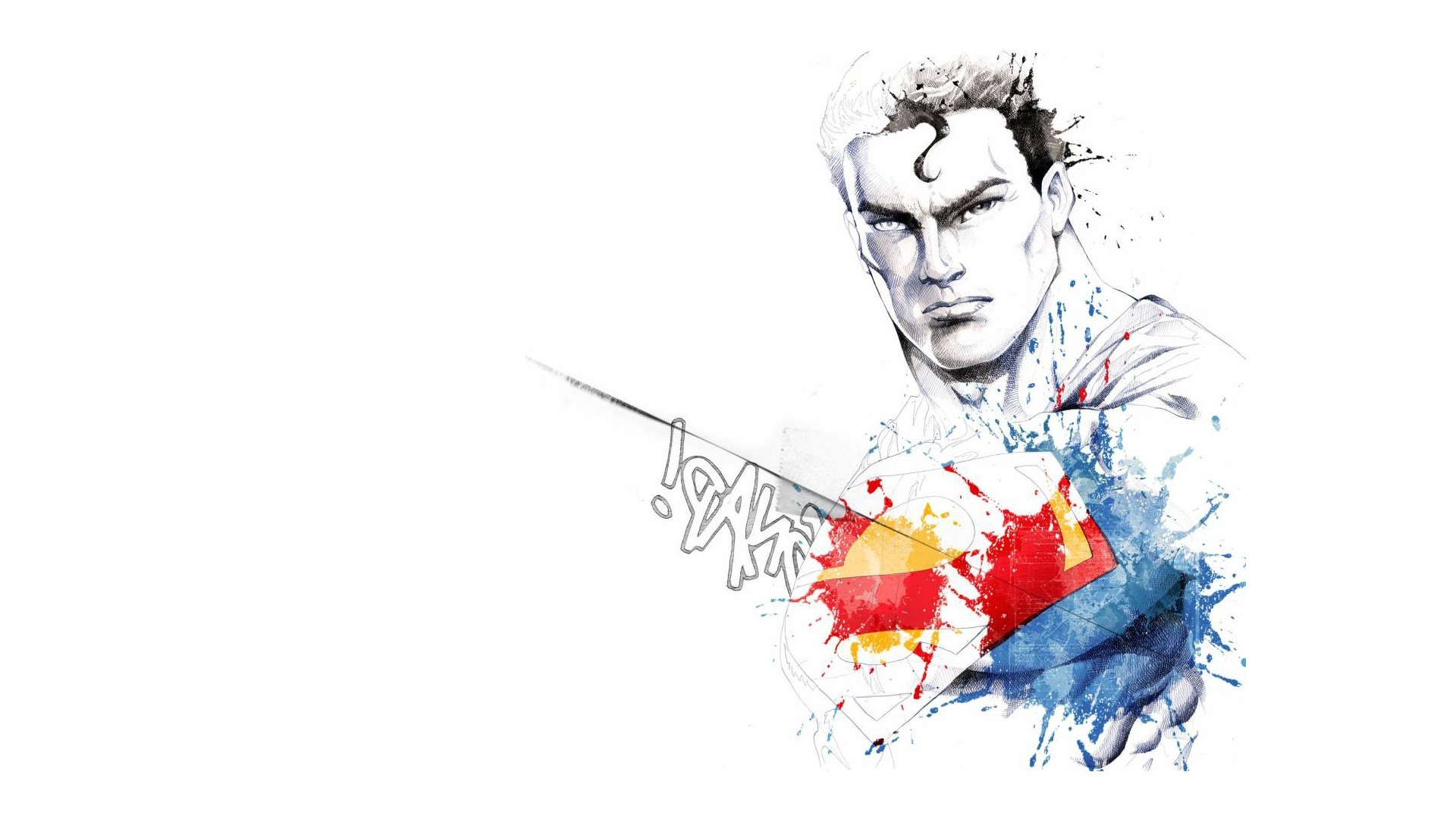 minimalistic dc comics comics HD Wallpaper