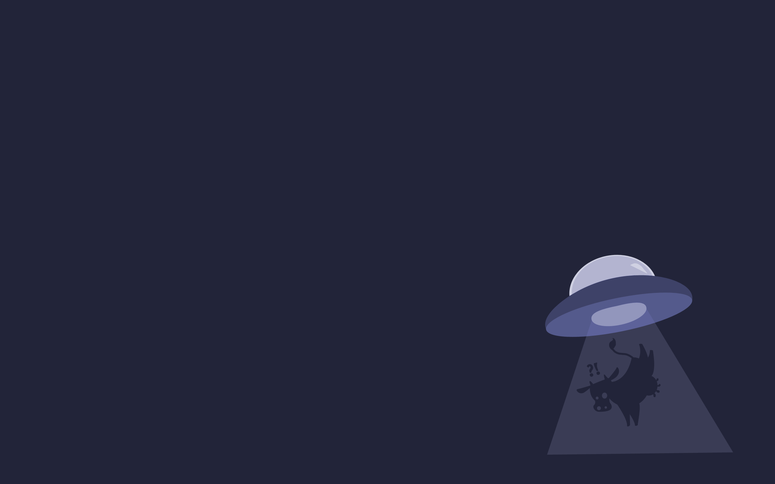 minimalistic gentoo Cows UFO HD Wallpaper