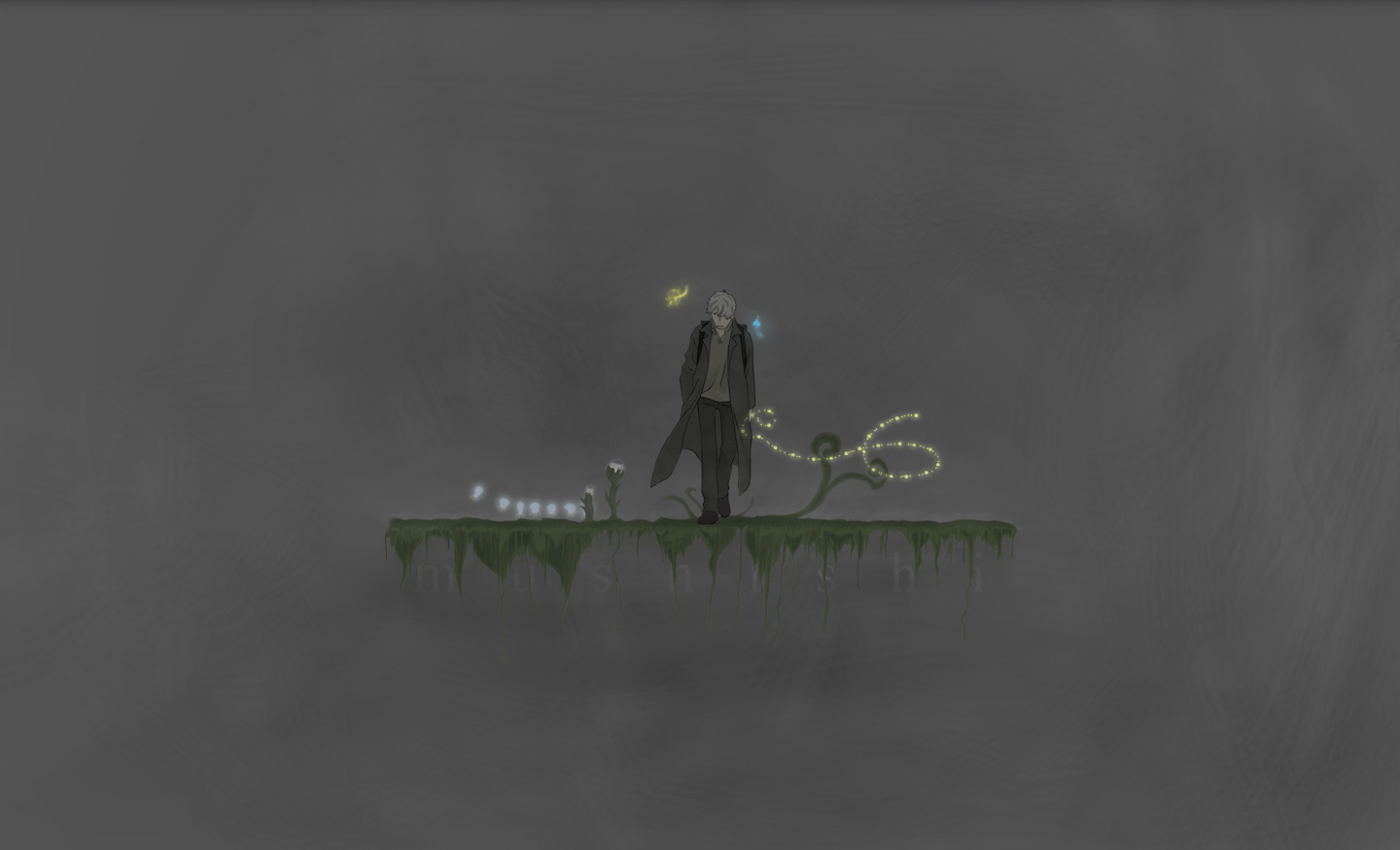 minimalistic Mushishi Ginko grey HD Wallpaper