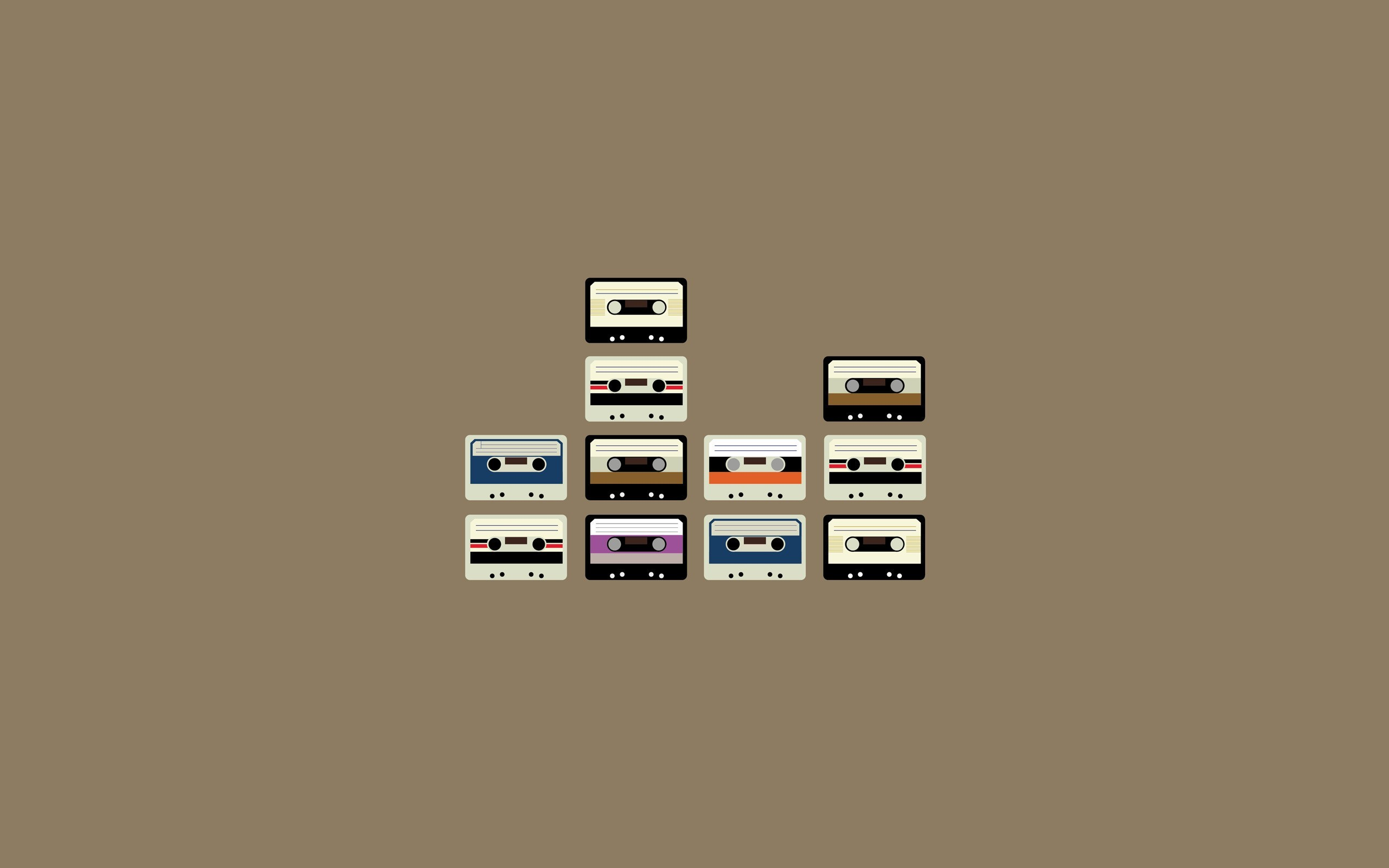 minimalistic Music cassette vectors HD Wallpaper