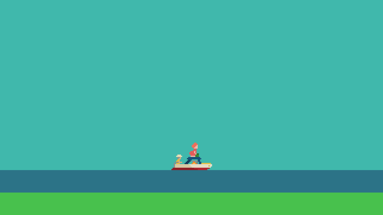 minimalistic Ponyo studio ghibli HD Wallpaper