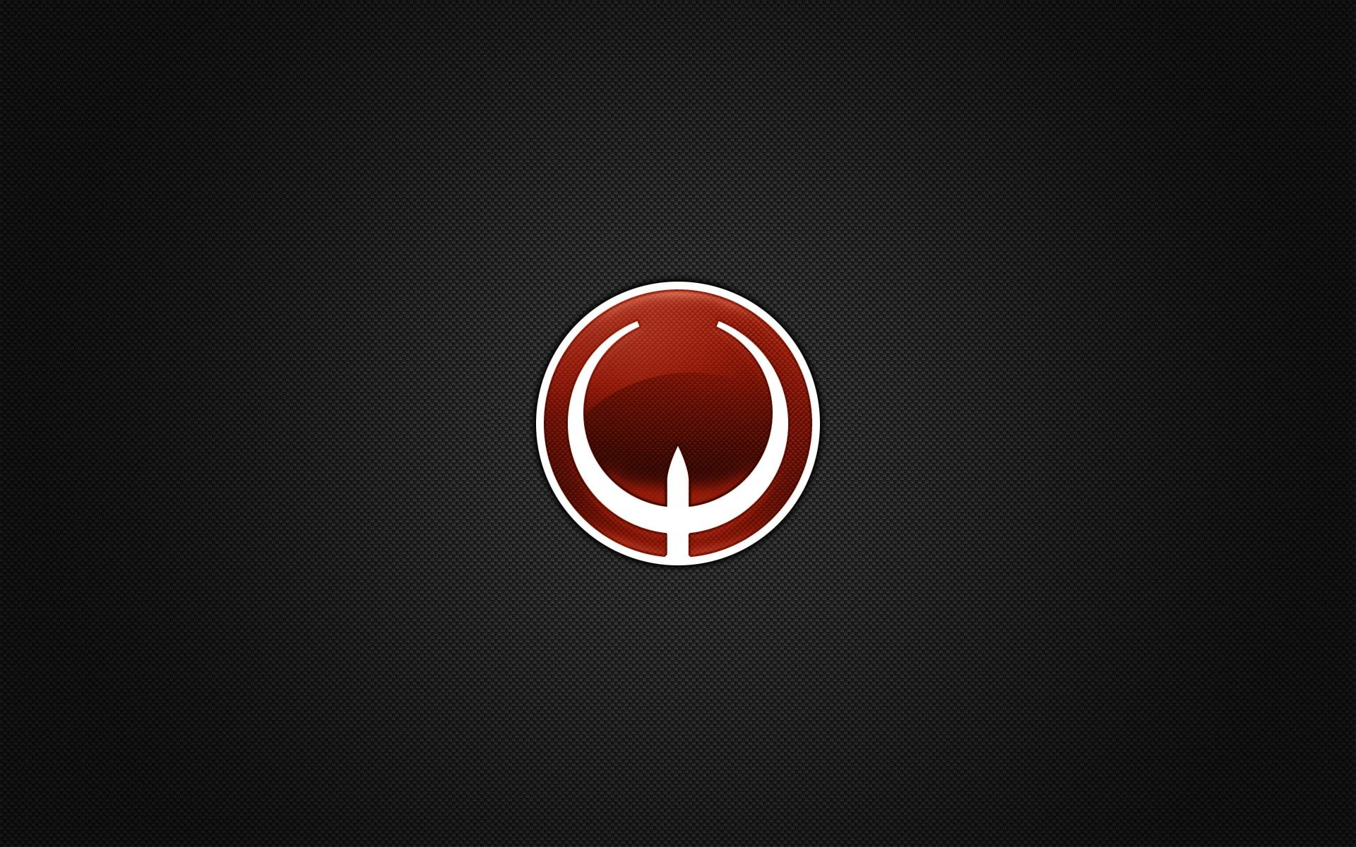 minimalistic quake logos HD Wallpaper
