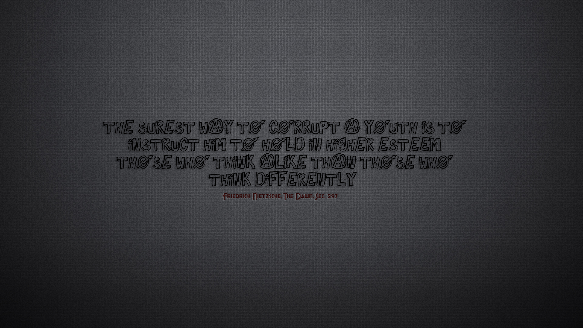 minimalistic Quotes thinking Typography HD Wallpaper