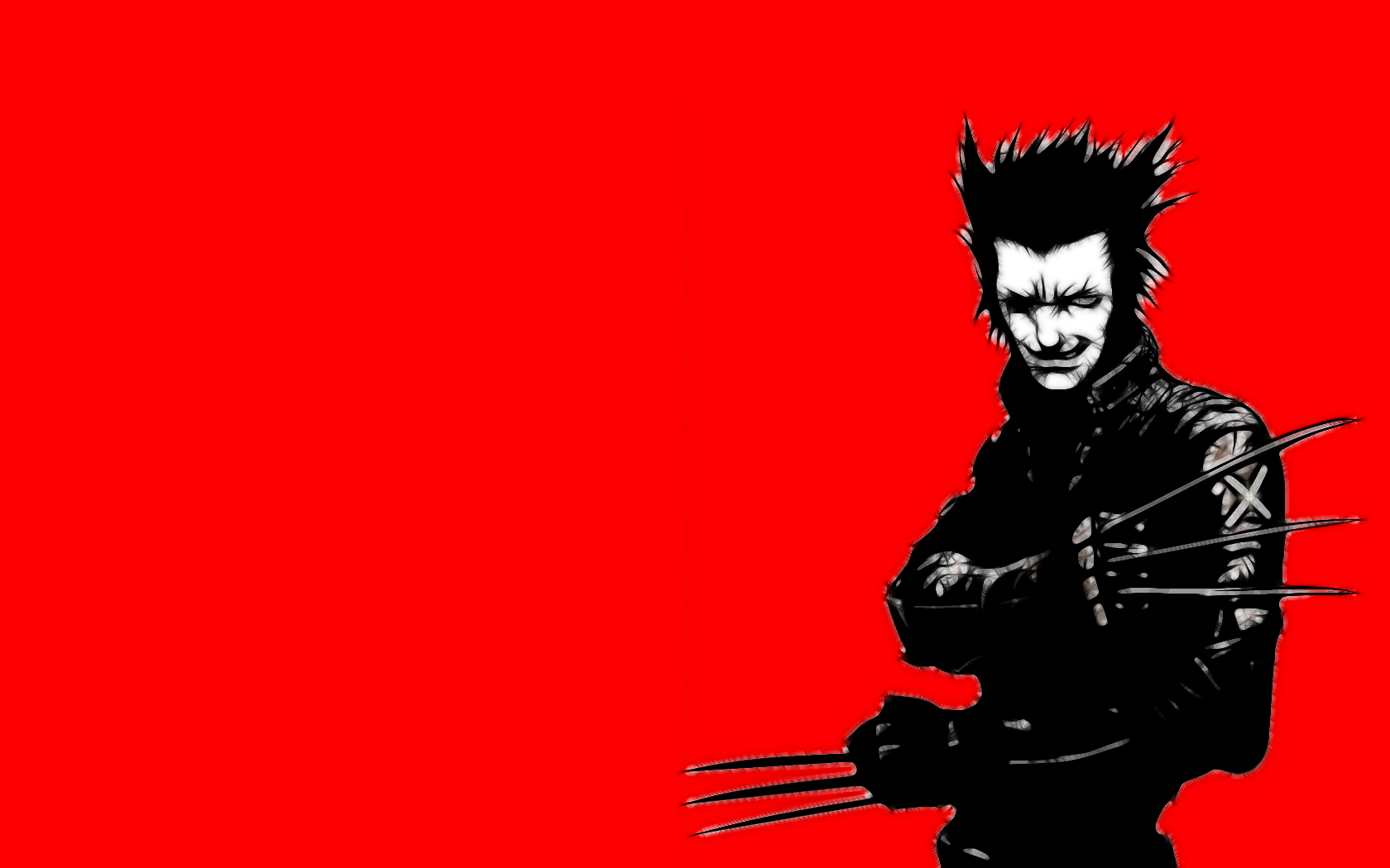minimalistic red X-Men wolverine HD Wallpaper