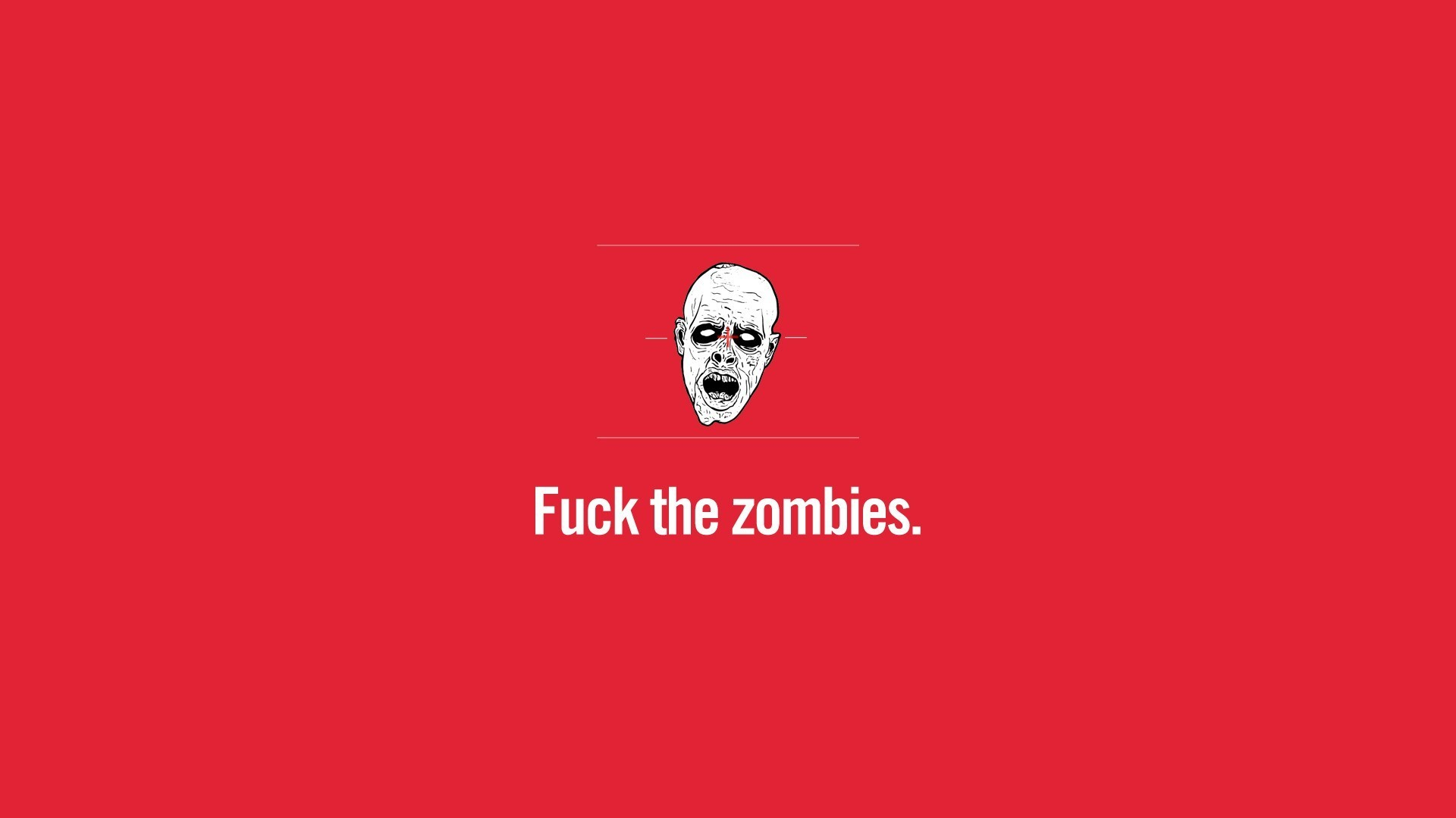 minimalistic red zombies HD Wallpaper