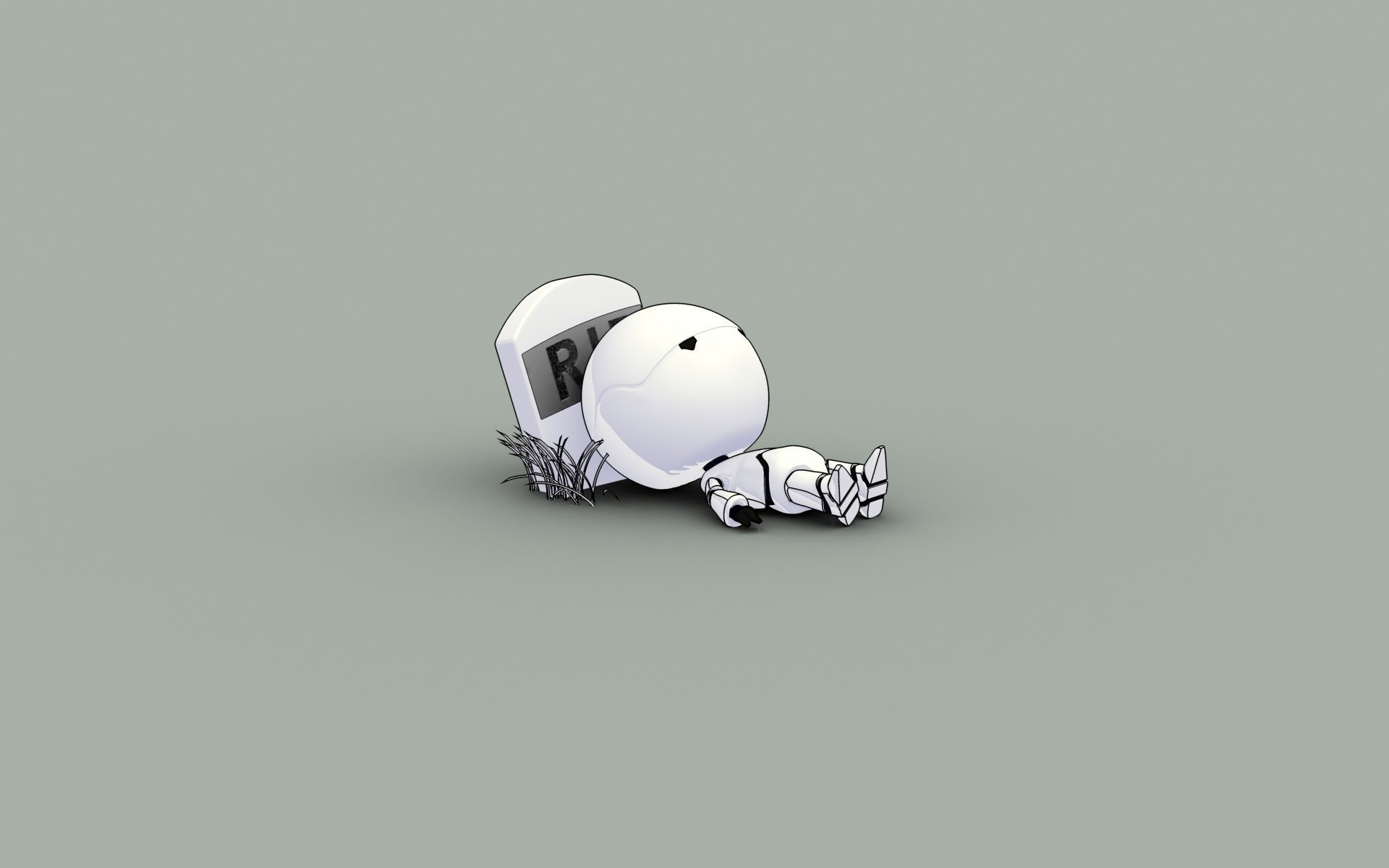 minimalistic Robots funny The HD Wallpaper
